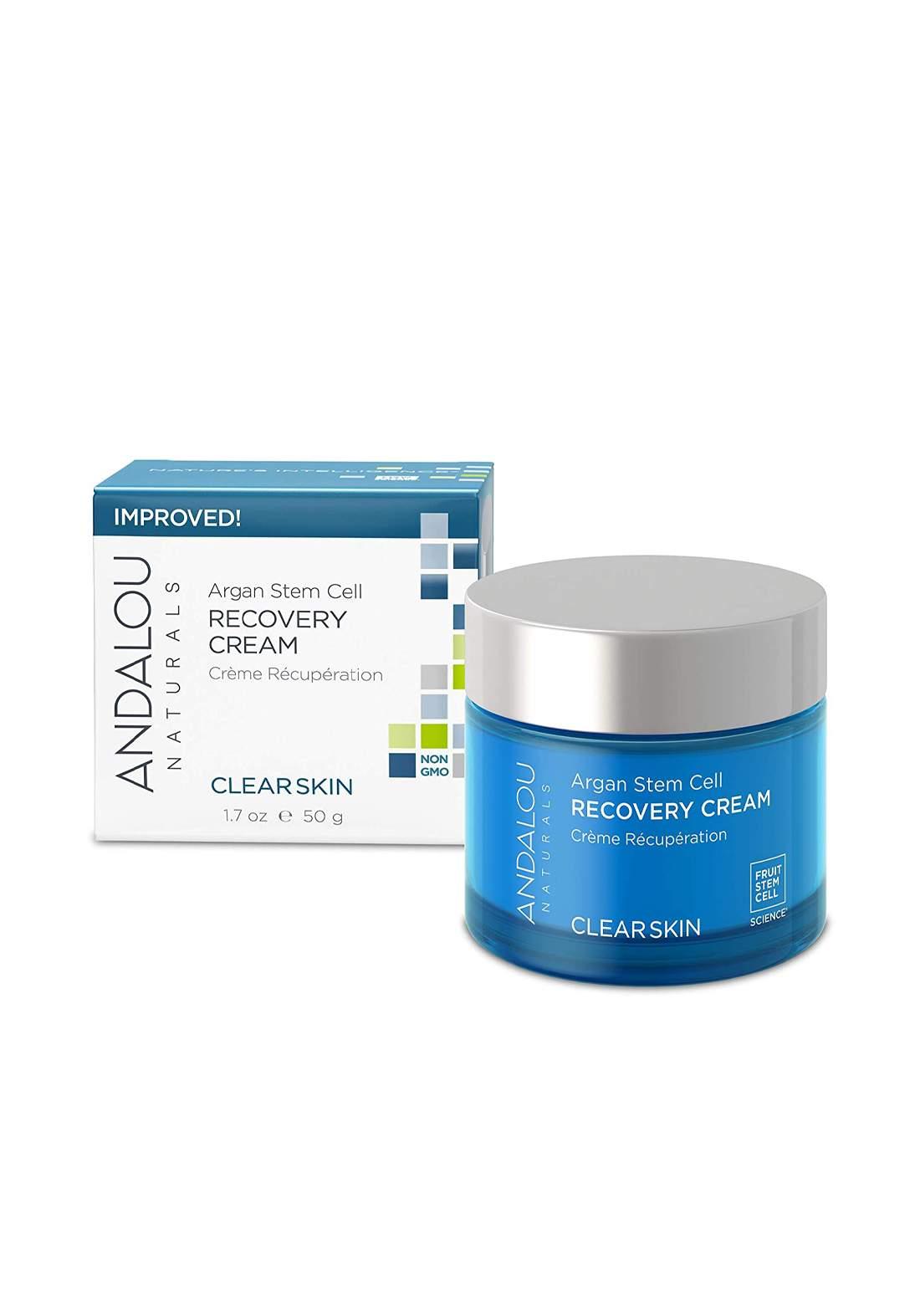 0251 Andalou Naturals Argan Stem Cell Recovery Cream 50g كريم ليلي للبشرة