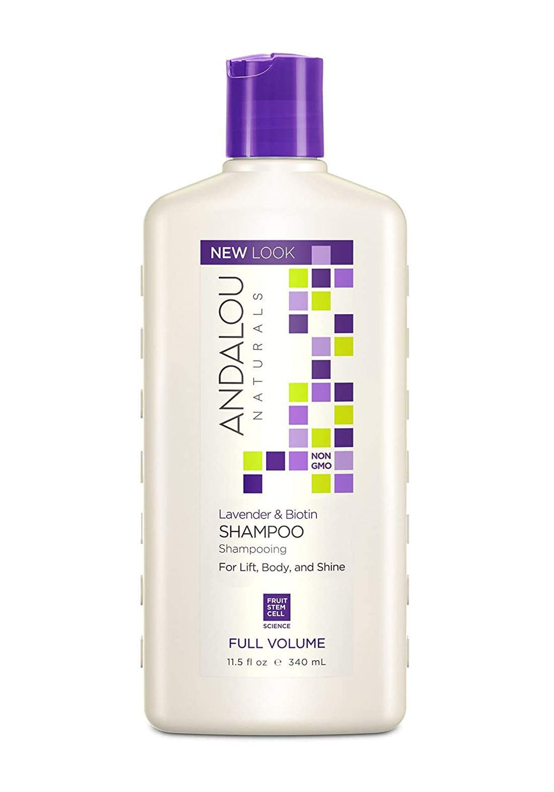 27100 Andalou Naturals Lavender Biotin Shampoo Full Volume 340ml شامبو للشعر