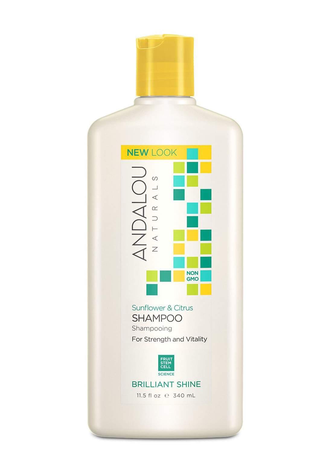 27101 Andalou Naturals Sunflower And Citrus Brilliant Shine Shampoo 340ml شامبو للشعر