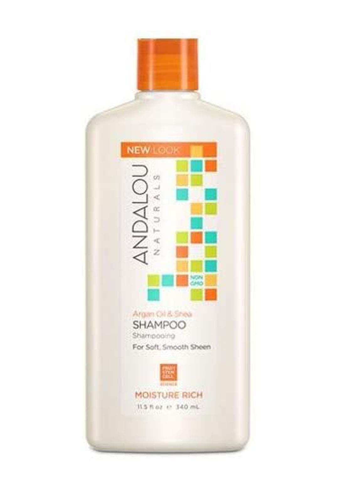 27102 Andalou Naturals Argan Oil AndShea Moisture Rich Shampoo 340ml  شامبو للشعر