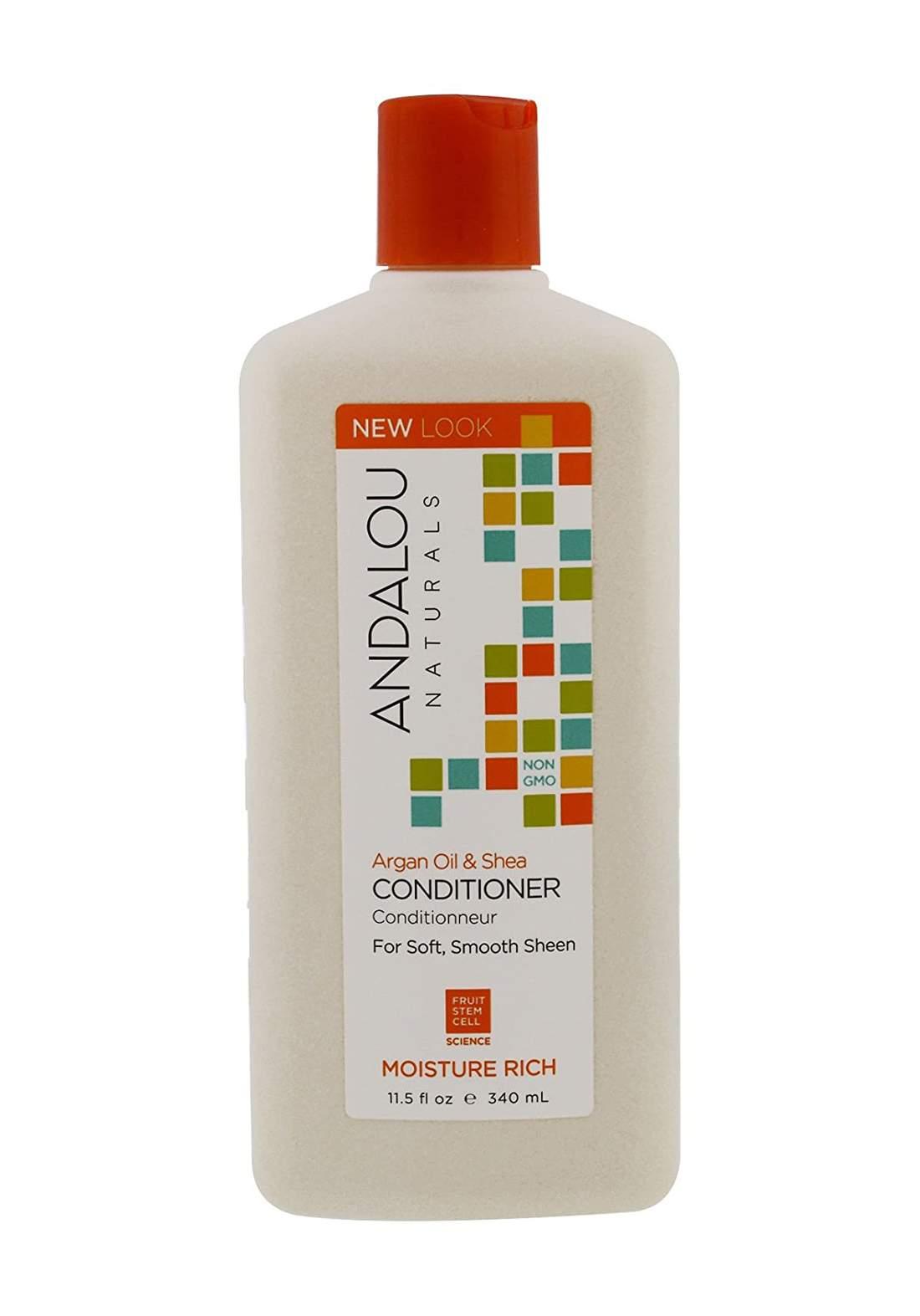 27102 Andalou Naturals Argan Oil AndShea Moisture Rich Conditioner 340ml  بلسم للشعر