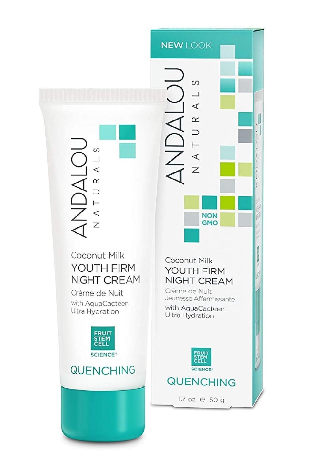 Andalou 0595 Naturals Quenching Coconut Milk Youth Firm Night Cream كريم ليلي