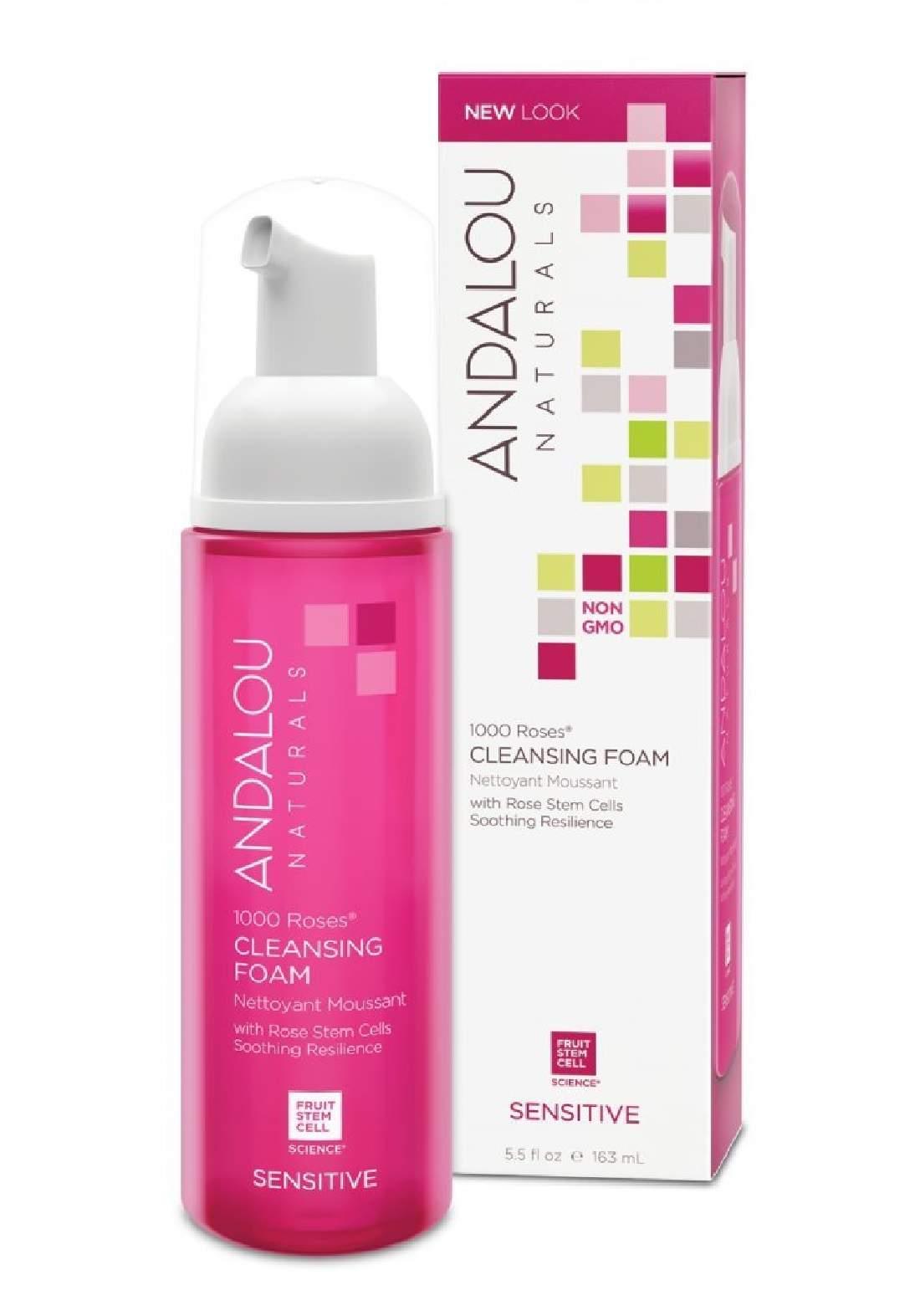 Andalou 0014 Naturals 1000 Roses Cleansing Foam Sensitive غسول رغوي