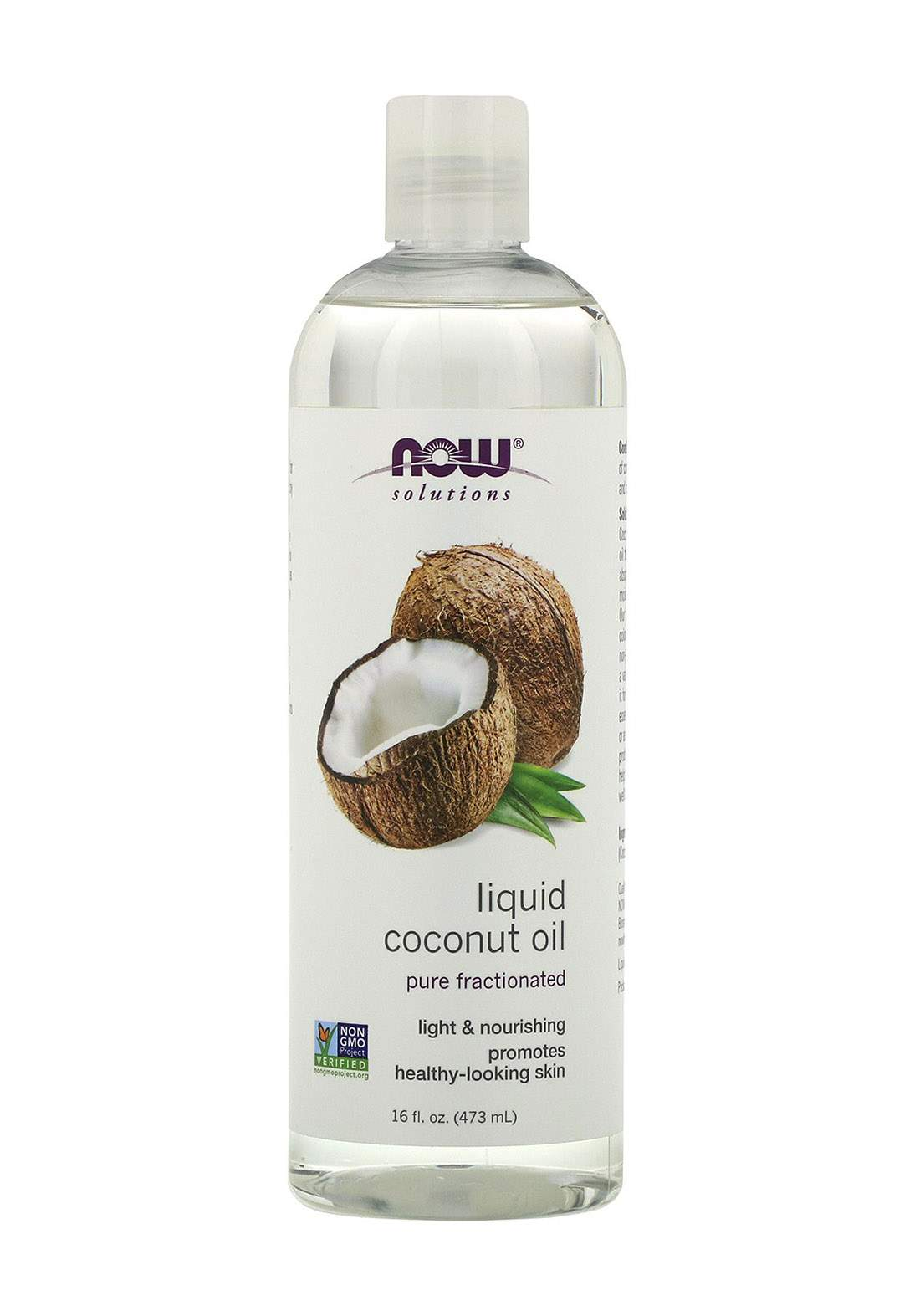Now Solutions Liquid Coconut Oil 473ml زيت جوز الهند السائل