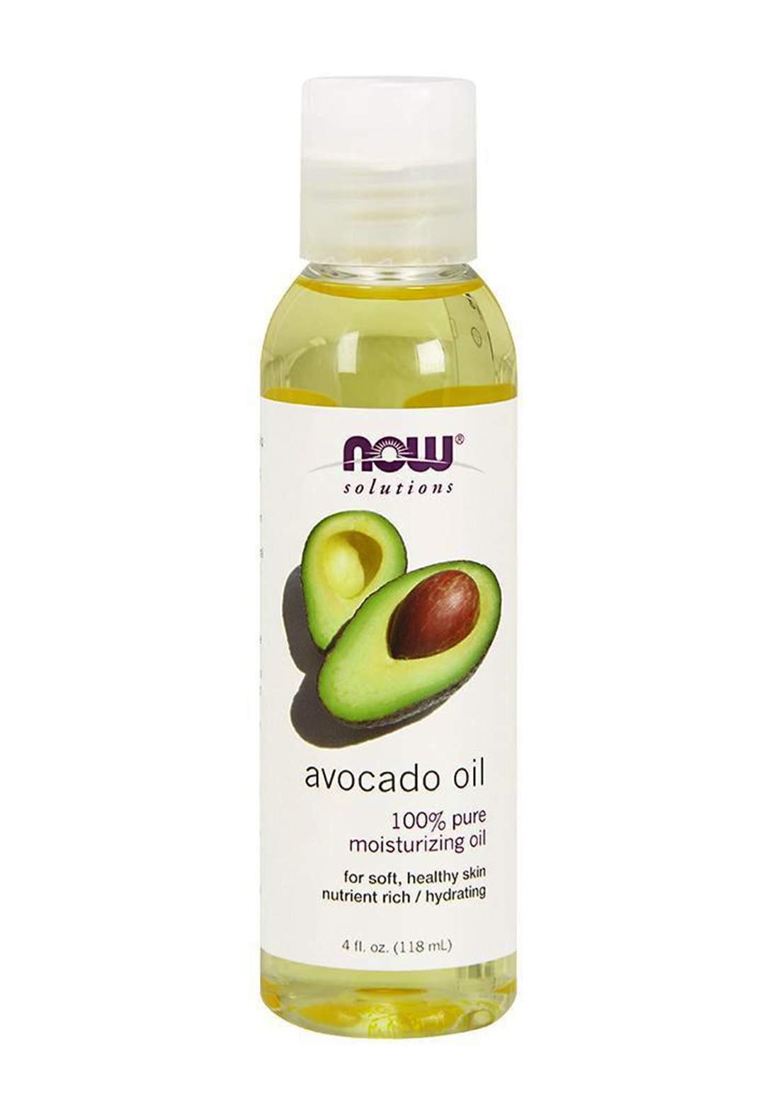 Now Solutions Avocado Oil Pure Moisturizing Oil 118ml زيت الأفوكادو