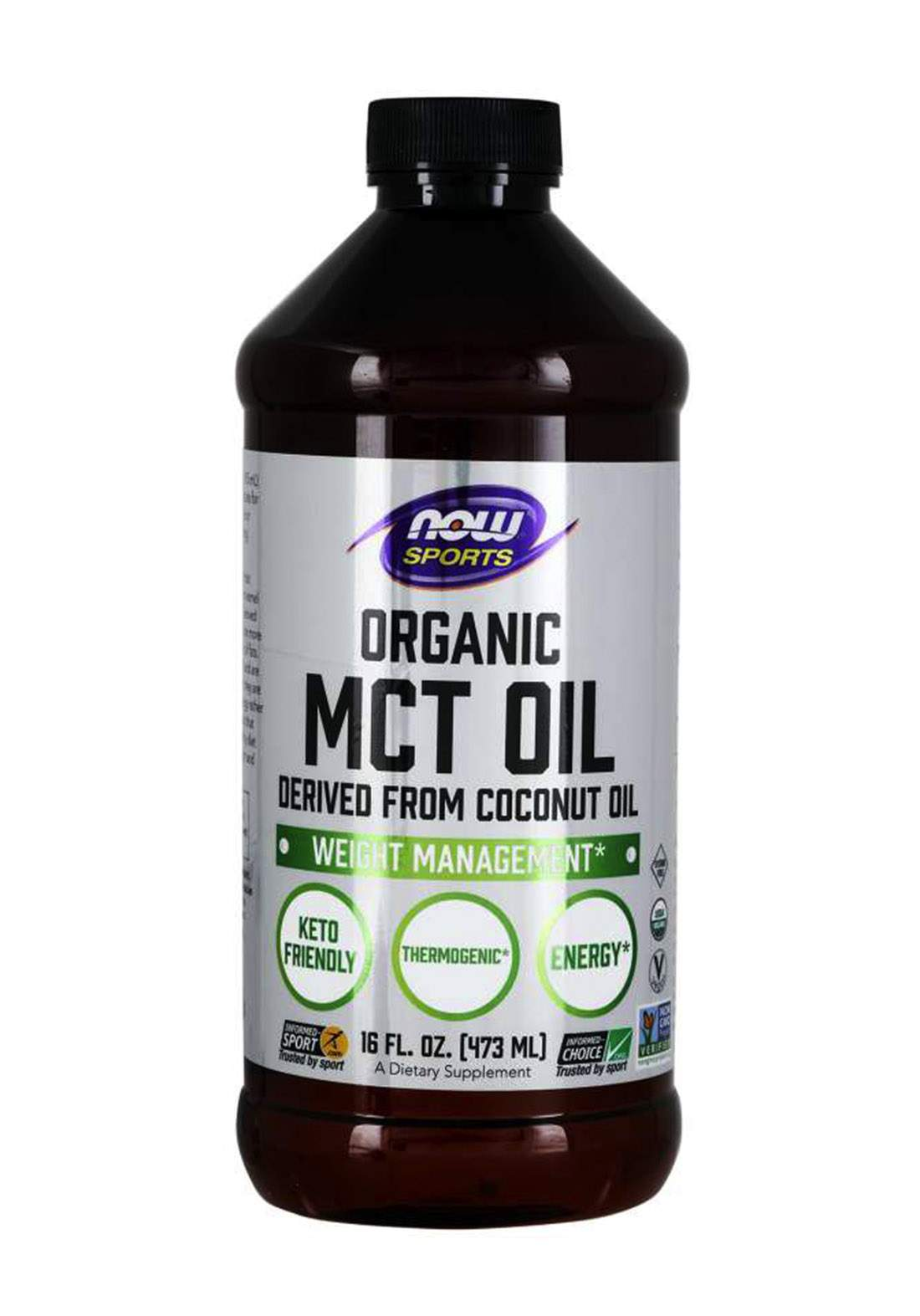 Now Sports Organic MCT Oil 473ml  زيت جوز الهند العضوي