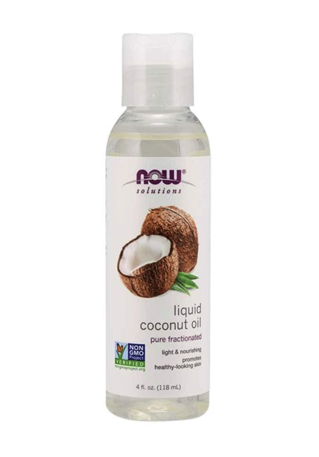 Now Solutions Liquid Coconut Oil 118ml زيت جوز الهند السائل