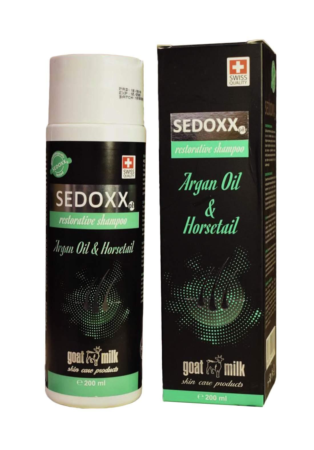 Sedoxx Argan Oil and Horsetail Shampoo 200 ml شامبو للشعر