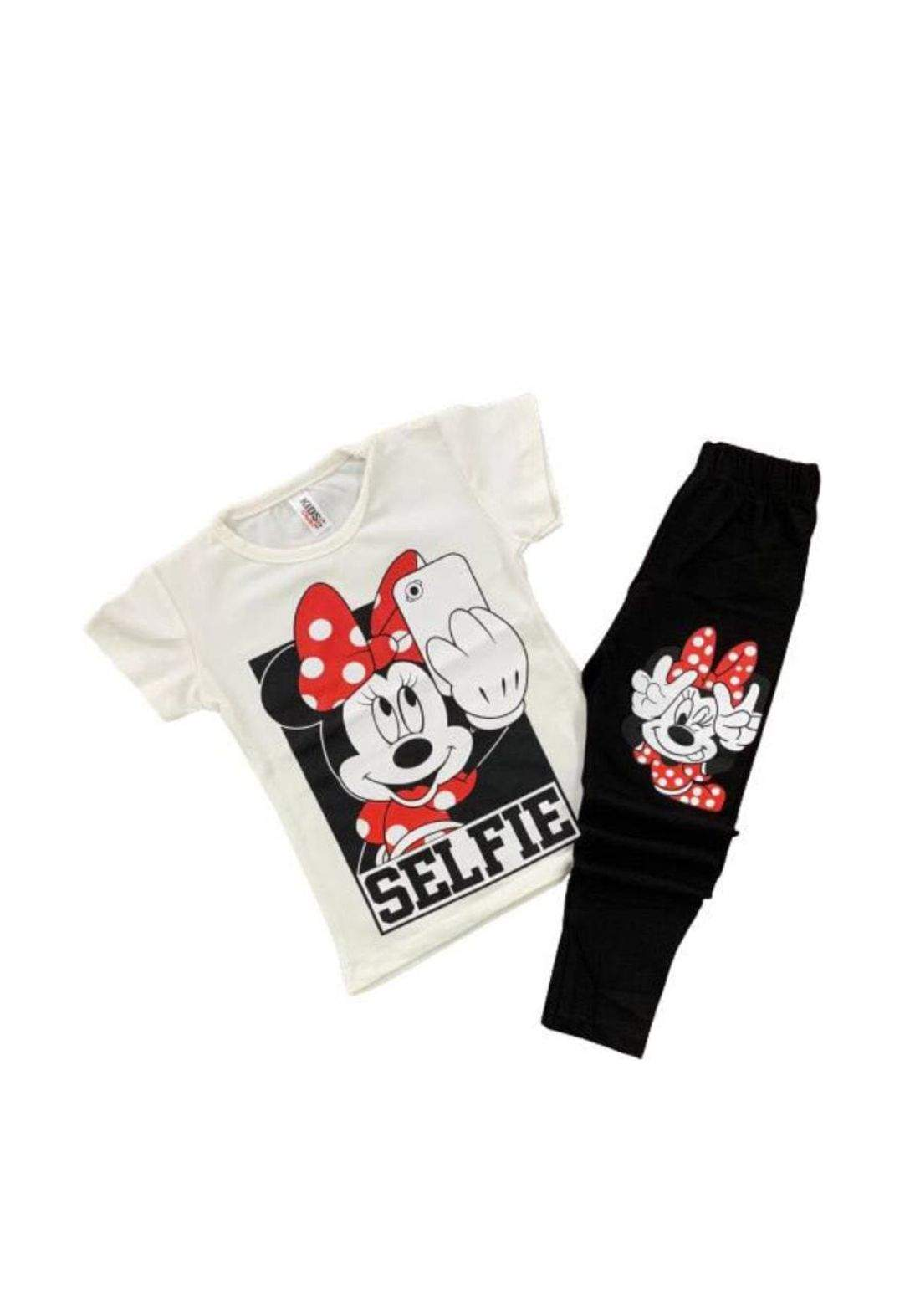 tracksuit for girls white  (t-shirt+ Pijamas ) ( تراكسوت بناتي ابيض   (شورت وبجامة