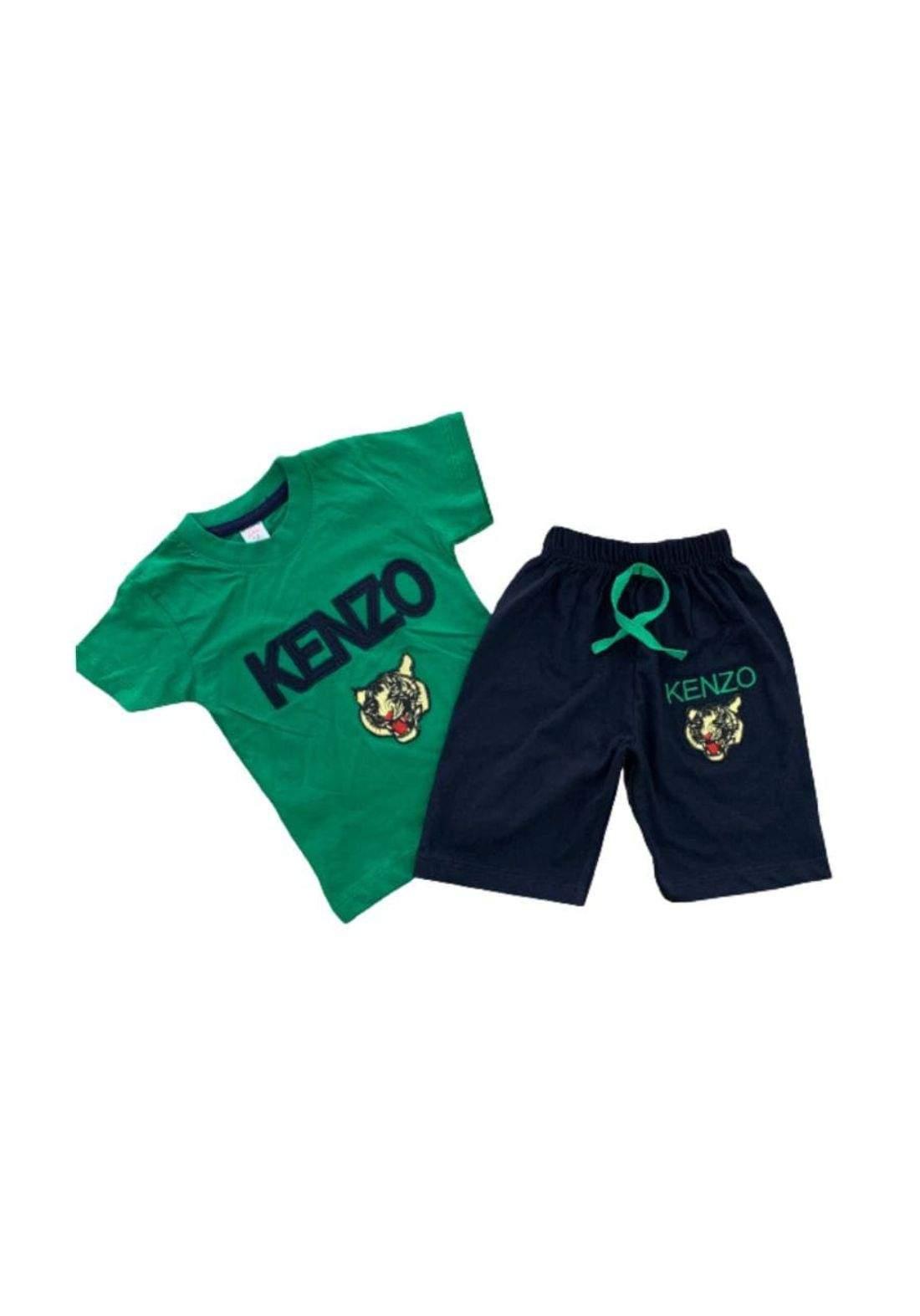 tracksuit for boys green  (t-shirt+short) ( تراكسوت ولادي  اخضر  (شورت و تيشيرت