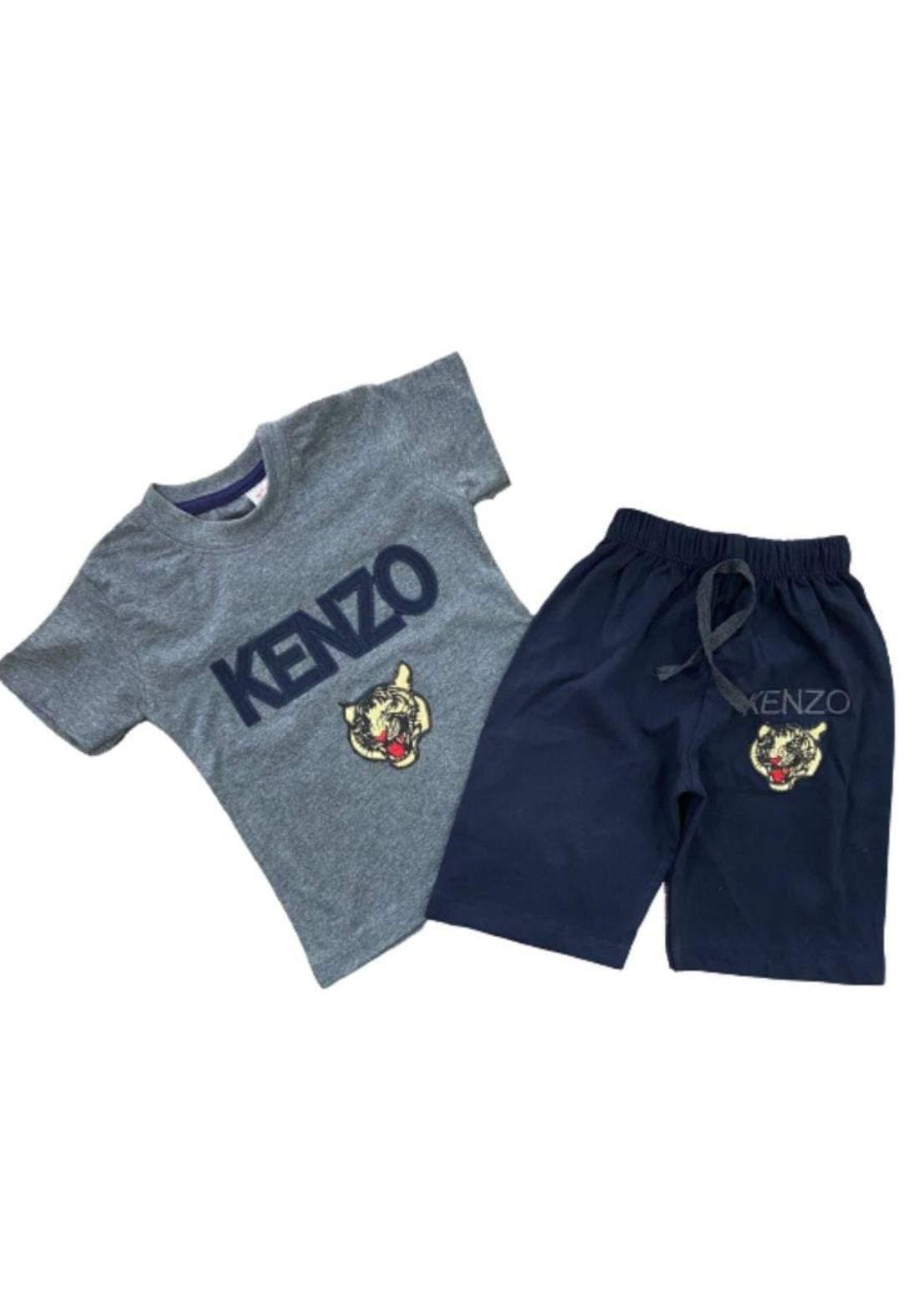 tracksuit for boys grey (t-shirt+short) ( تراكسوت ولادي رصاصي(شورت و تيشيرت