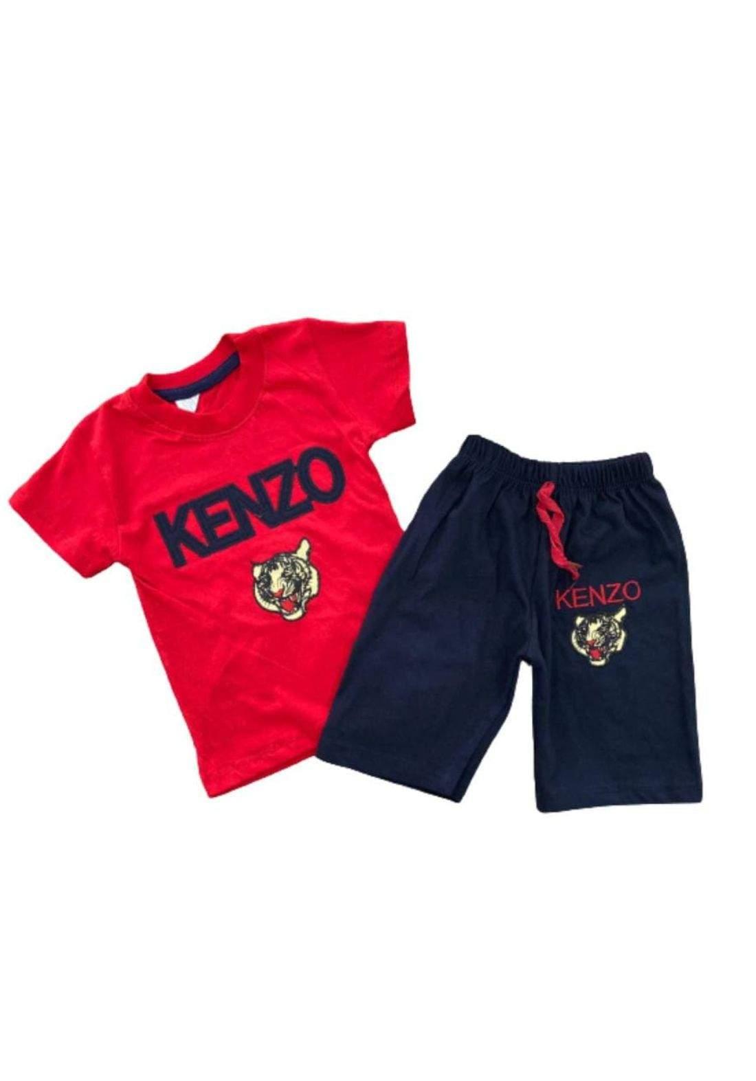 tracksuit for boys  red  (t-shirt+short) تراكسوت ولادي احمر  (شورت و تيشيرت)