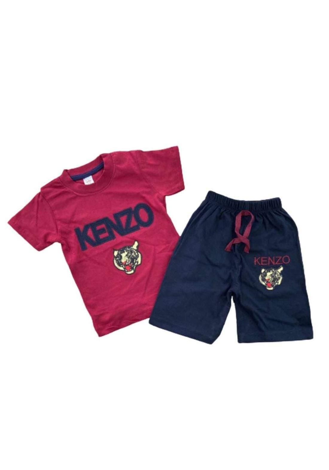 tracksuit for boys red  (t-shirt+short) تراكسوت ولادي ماروني  (شورت و تيشيرت)