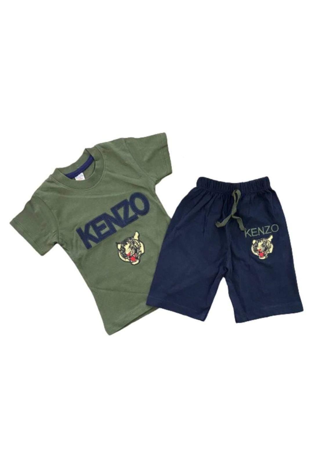 tracksuit for boys  olive (t-shirt+short) ( تراكسوت ولادي زيتوني  (شورت و تيشيرت