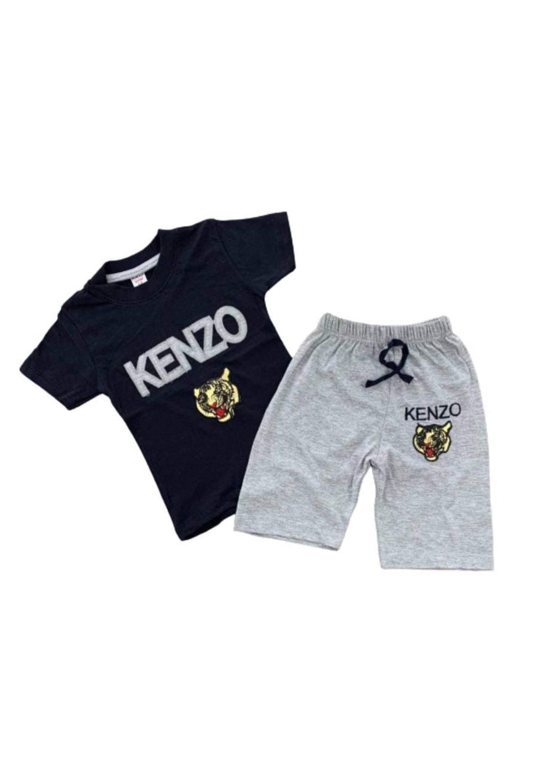tracksuit for boys  black (t-shirt+short) ( تراكسوت ولادي  اسود (شورت و تيشيرت