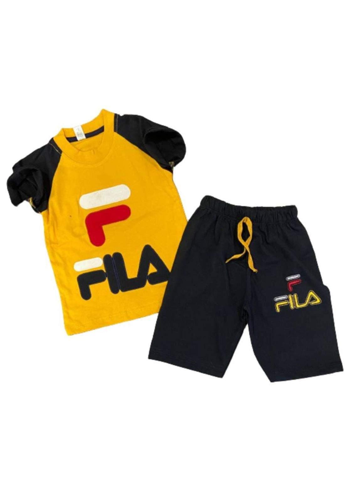 tracksuit for boys yellow (t-shirt+short) ( تراكسوت ولادي  اصفر (شورت و تيشيرت