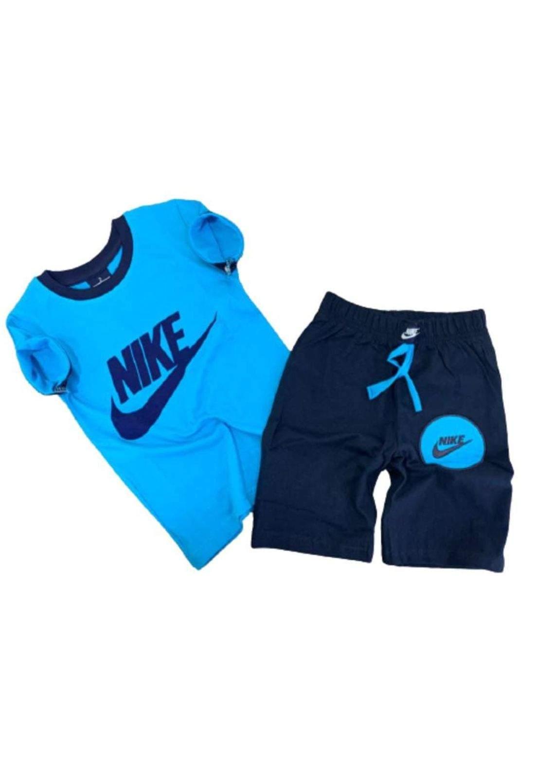 tracksuit for boys blue  (t-shirt+short) ( تراكسوت ولادي سمائي(شورت و تيشيرت