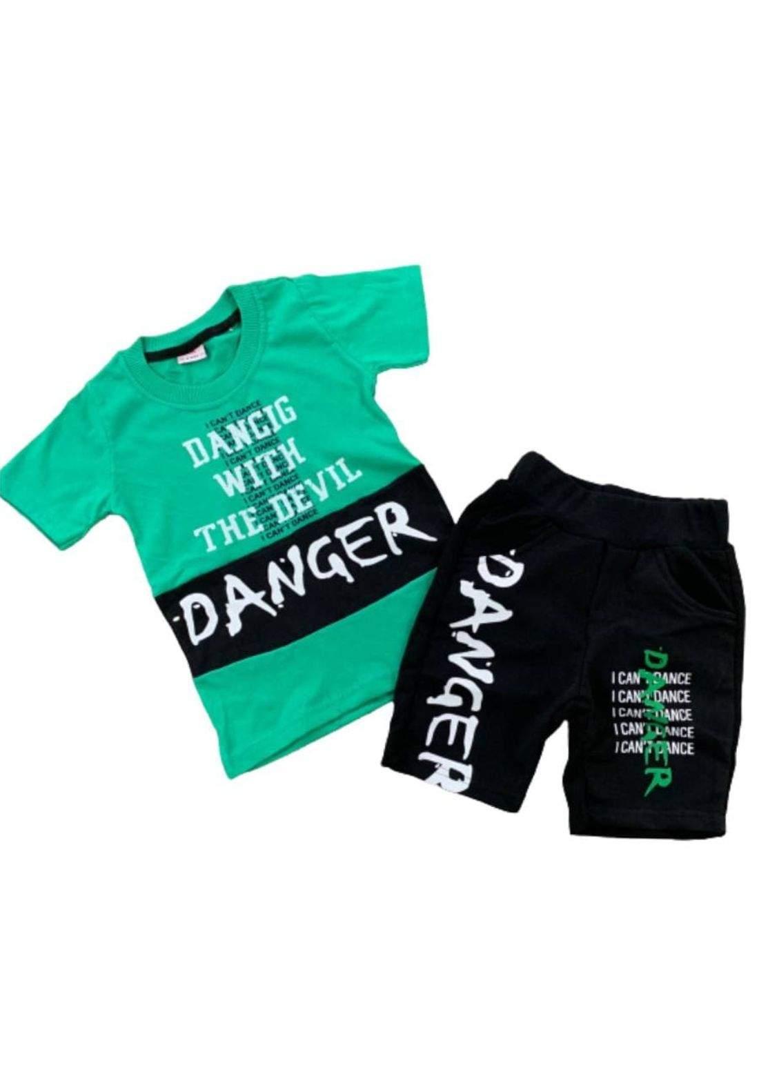 tracksuit for boys green  (t-shirt+short) ( تراكسوت ولادي  اخضر(شورت و تيشيرت