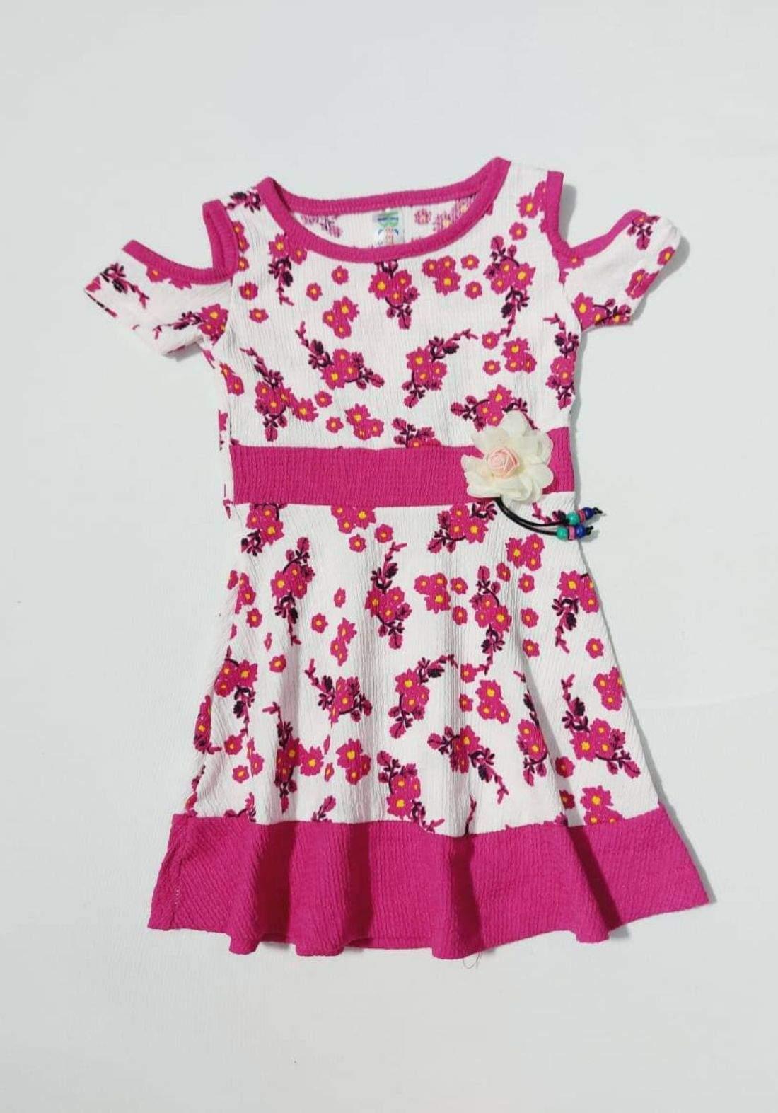 Dress for girls pink  فستان بناتي وردي