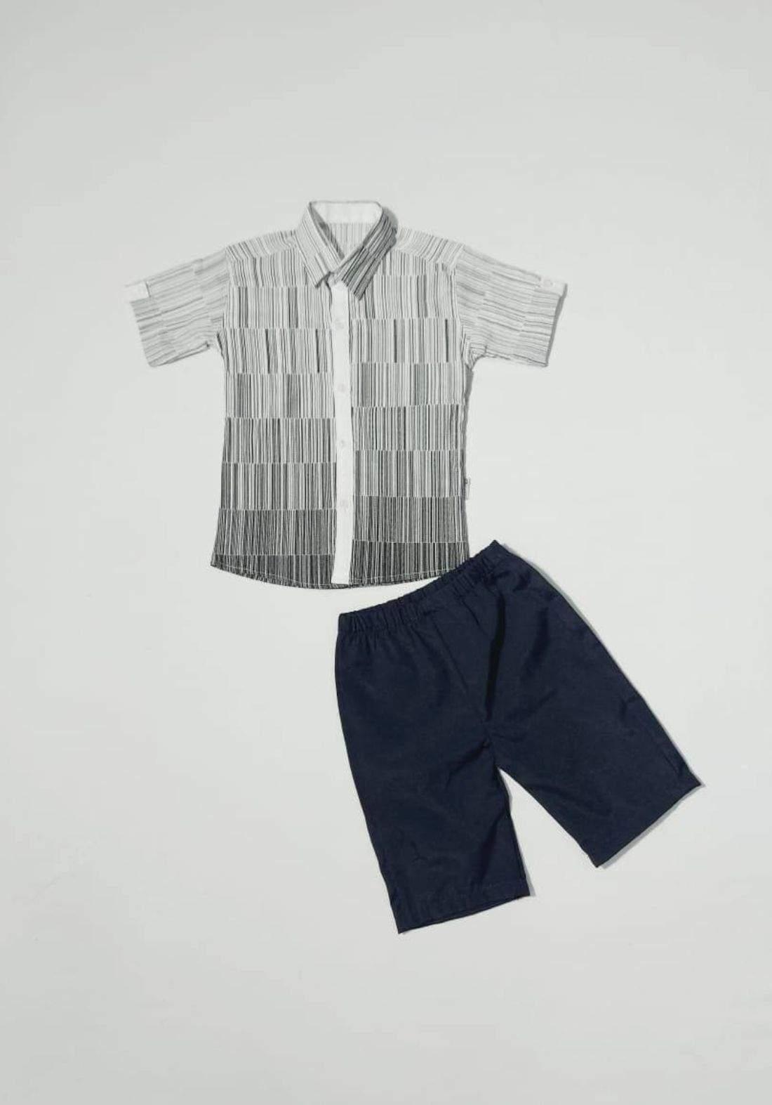 Boys' outfit (shirt and short )(طقم ولادي (قميص وشورت