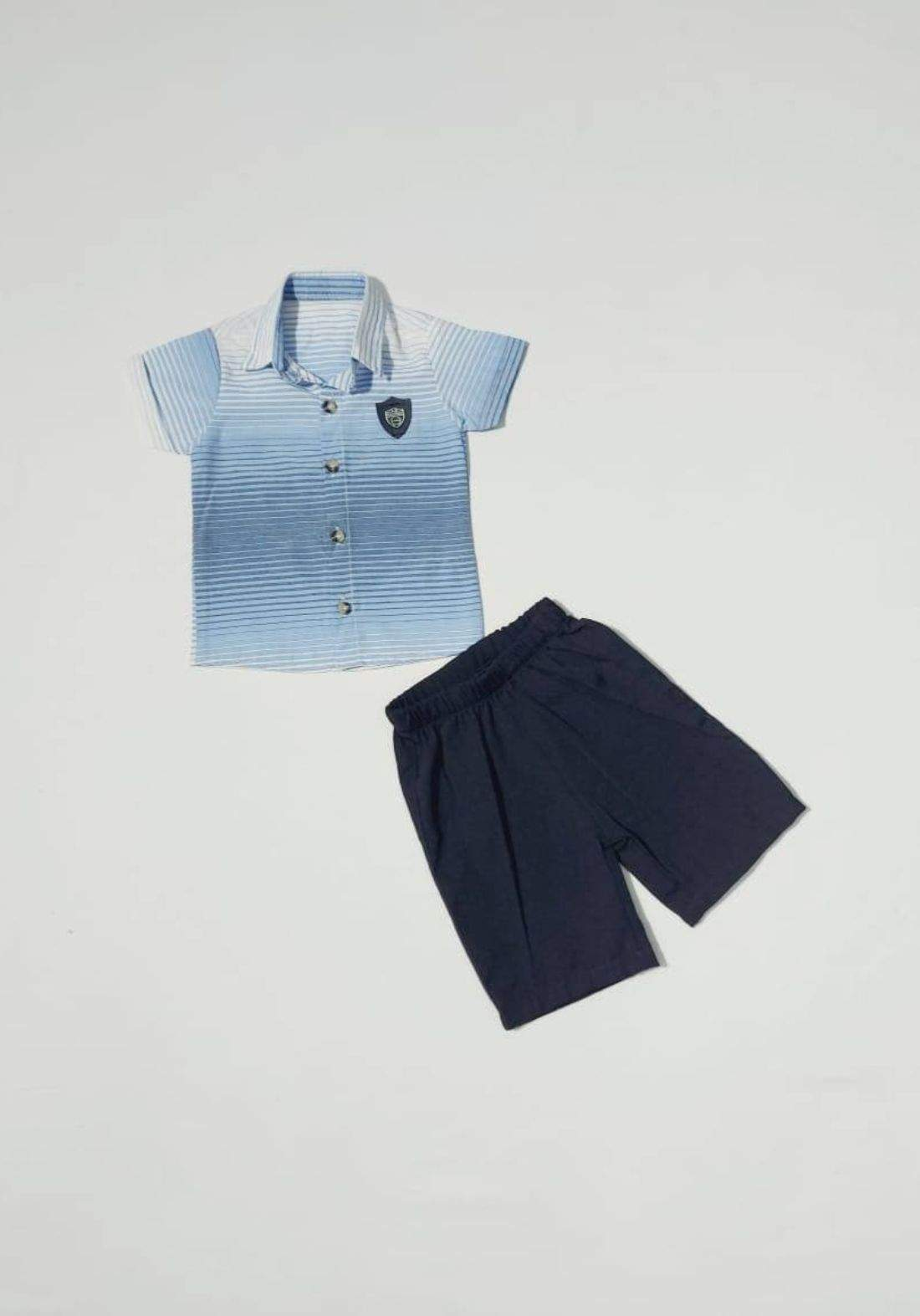 Boys' outfit (shirt and short) طقم ولادي (قميص وشورت )