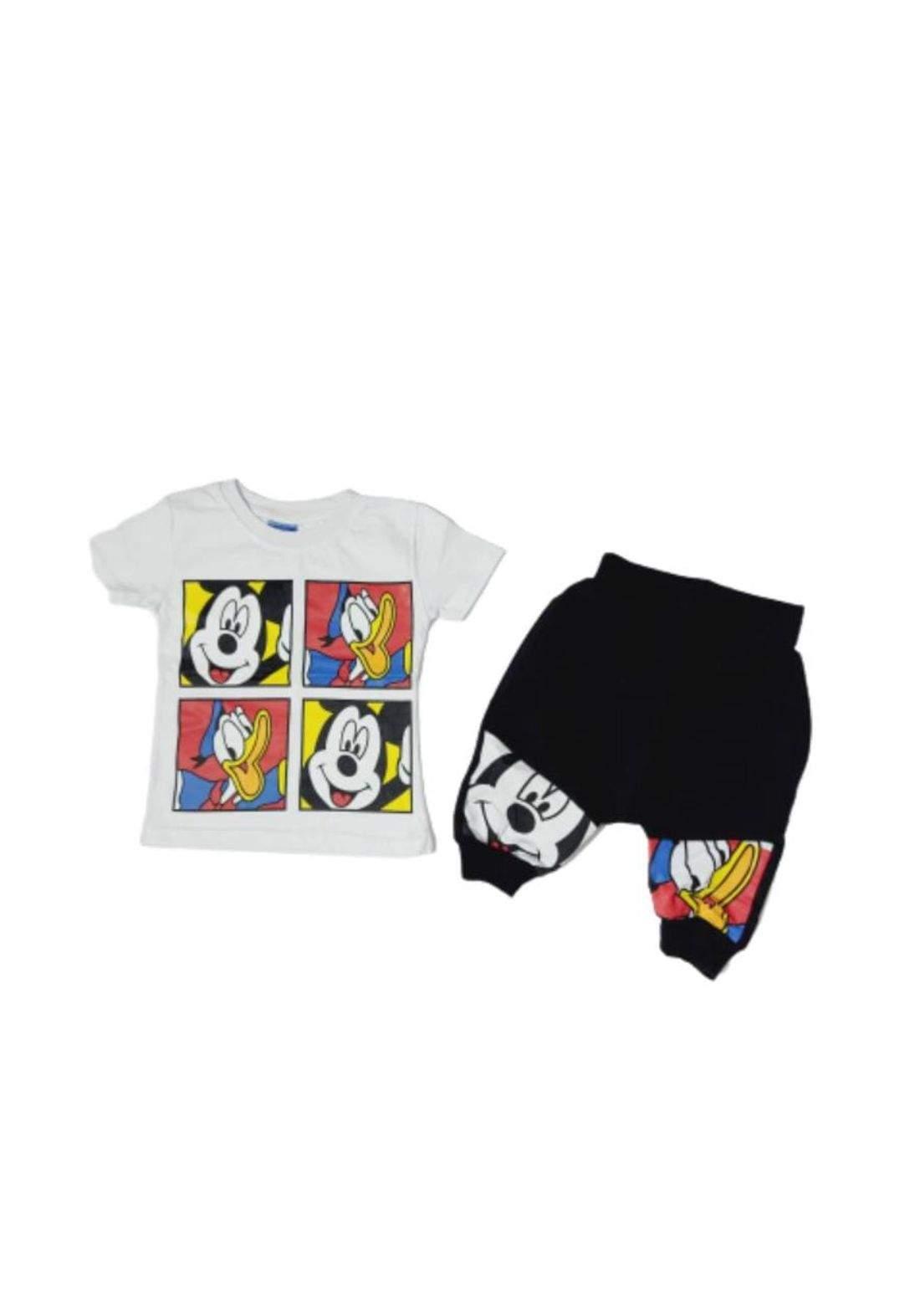 Tracksuit for kids white (t-shirt+sort) تراكسوت اطفال ابيض  (شورت+تيشيرت)