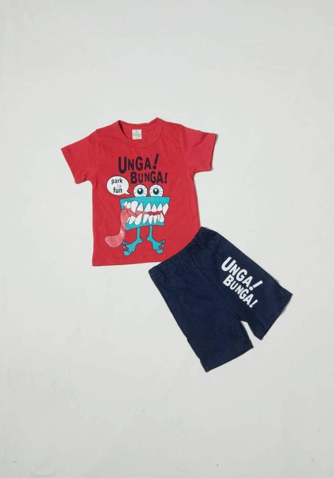 tracksuit for boys red (t-shirt+short) ( تراكسوت ولادي احمر  (شورت و تيشيرت