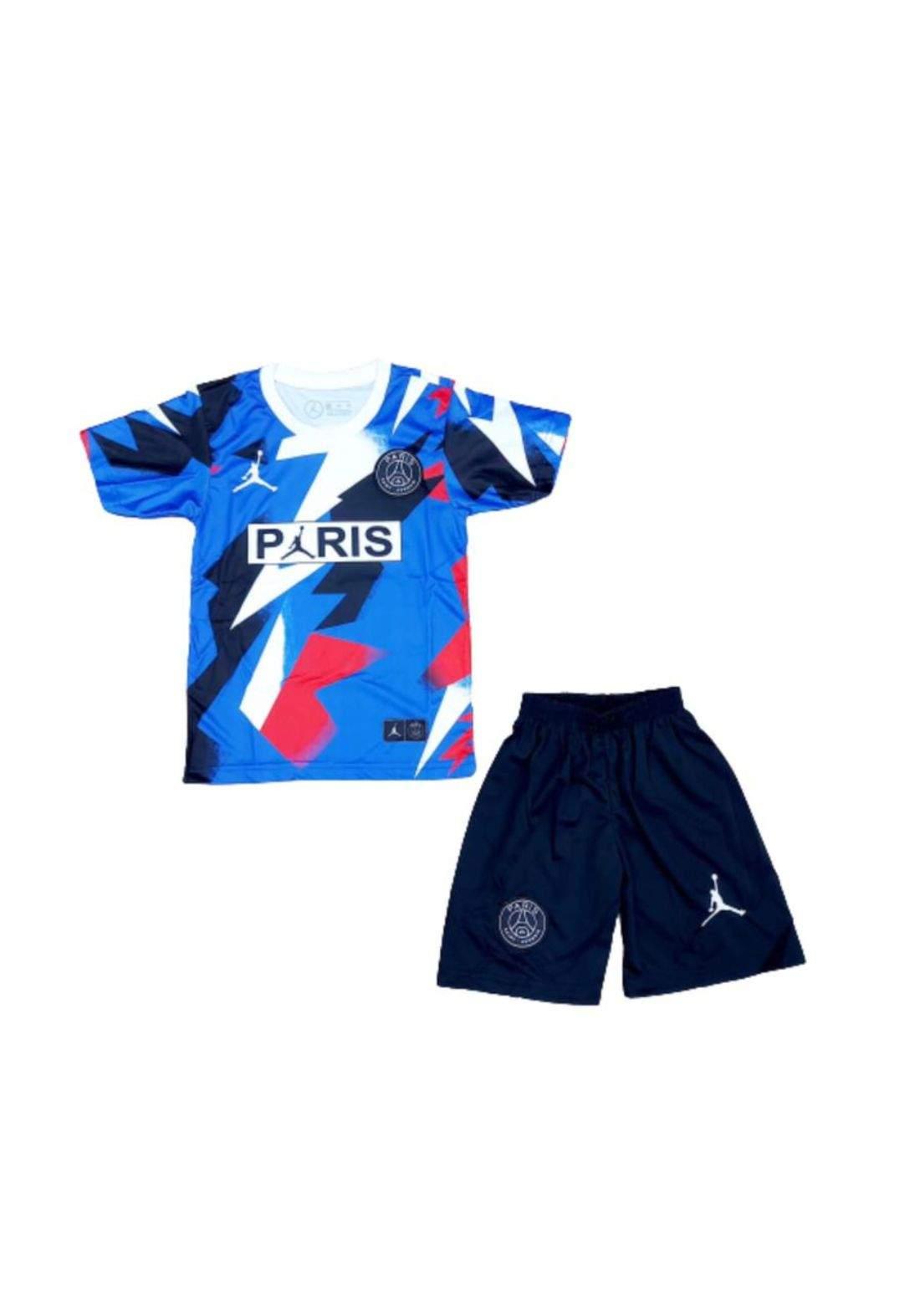 دريس رياضي فريق باريس ازرق اللون