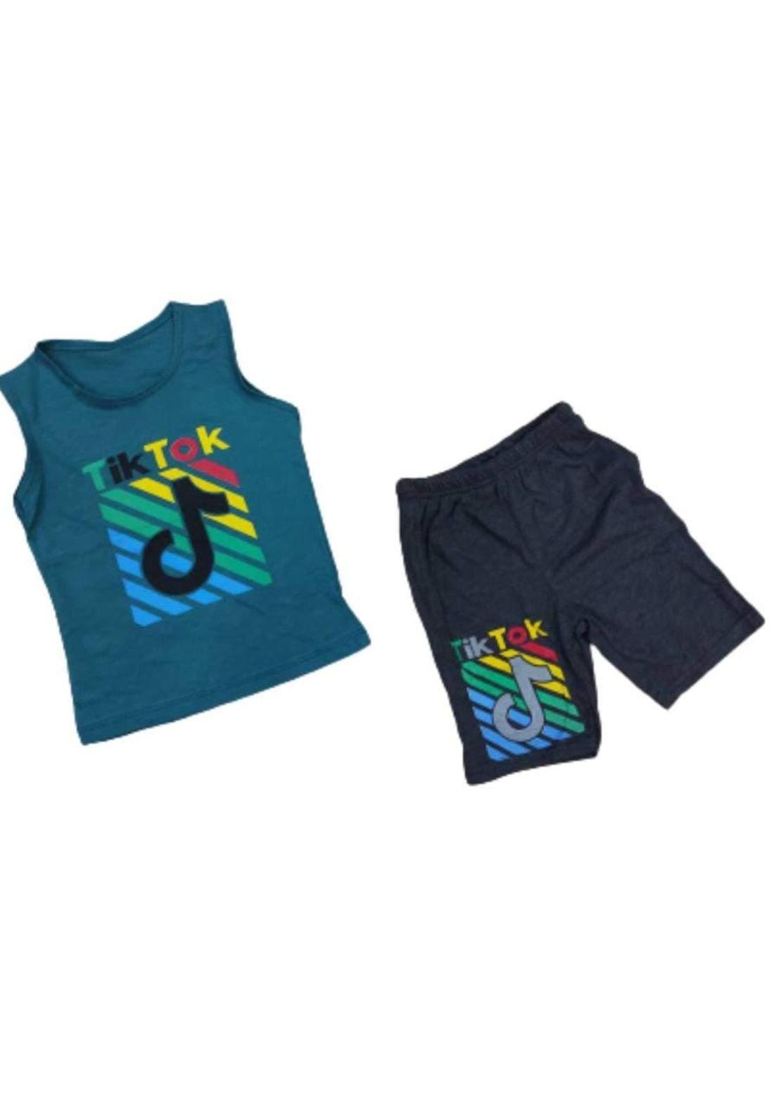 tracksuit for boys Olive (shirt +short) ( تراكسوت ولادي زيتوني (برموده وكيمونه