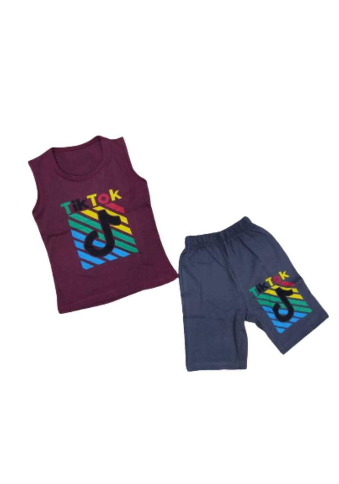 tracksuit for boys  Purple(shirt +short) ( تراكسوت ولادي بنفسجي (برموده وكيمونه