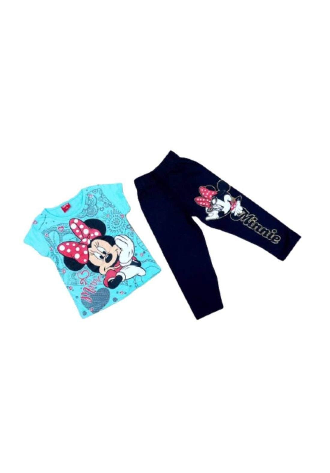 Tracksuit for girls blue (t-shirt+pijamas) تراكسوت بناتي تركوازي (بجامة+تيشيرت)