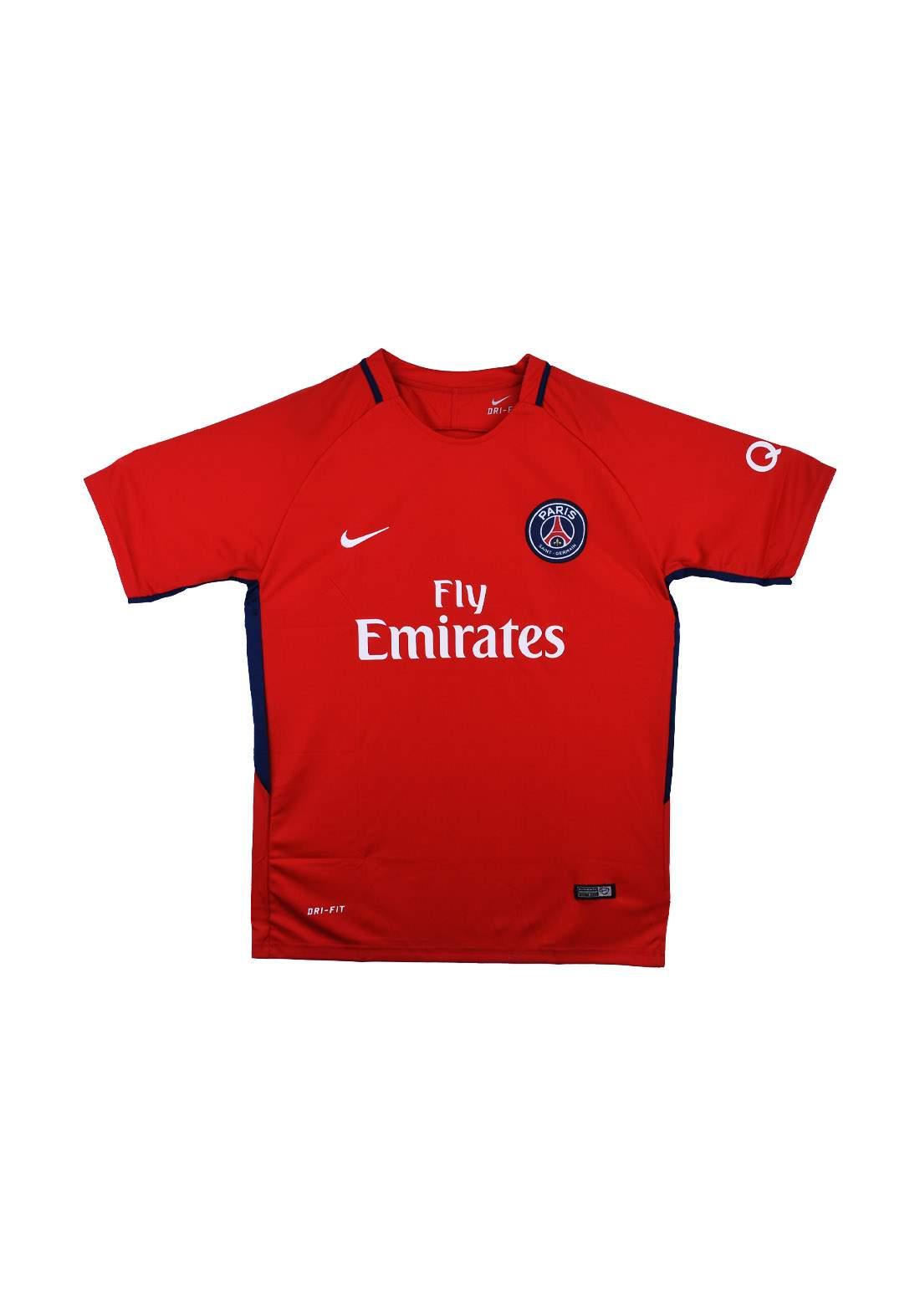 تيشيرت رياضي رجالي فريق باريس سان جيرمان احمر اللون