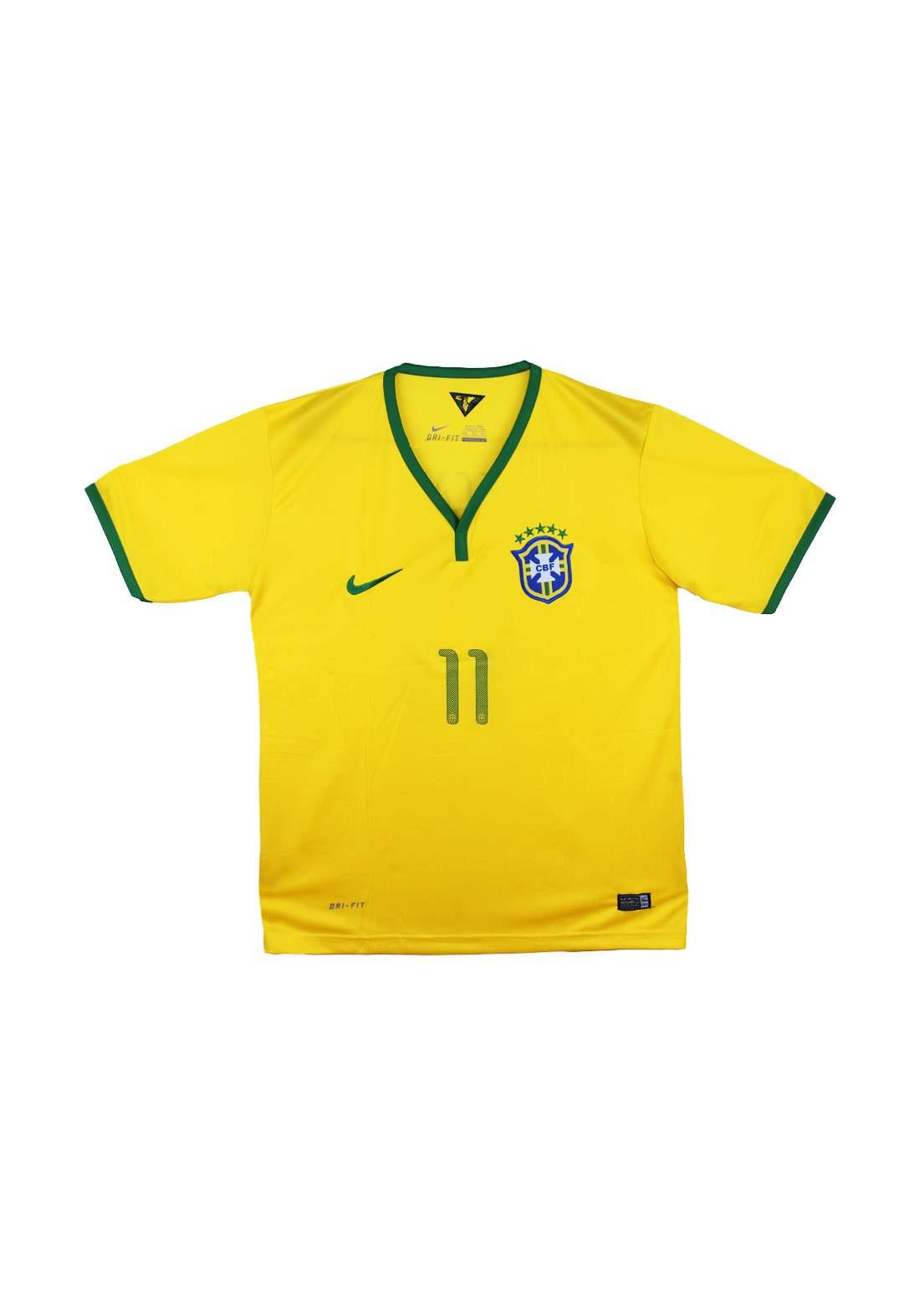 تيشيرت رياضي رجالي فريق برازيل اصفر اللون