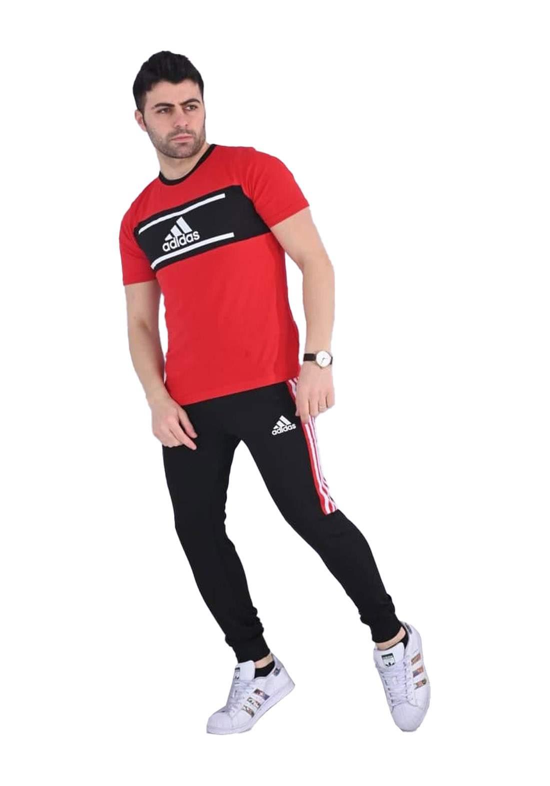 adidas Track تراكسوت رجالي احمر اللون