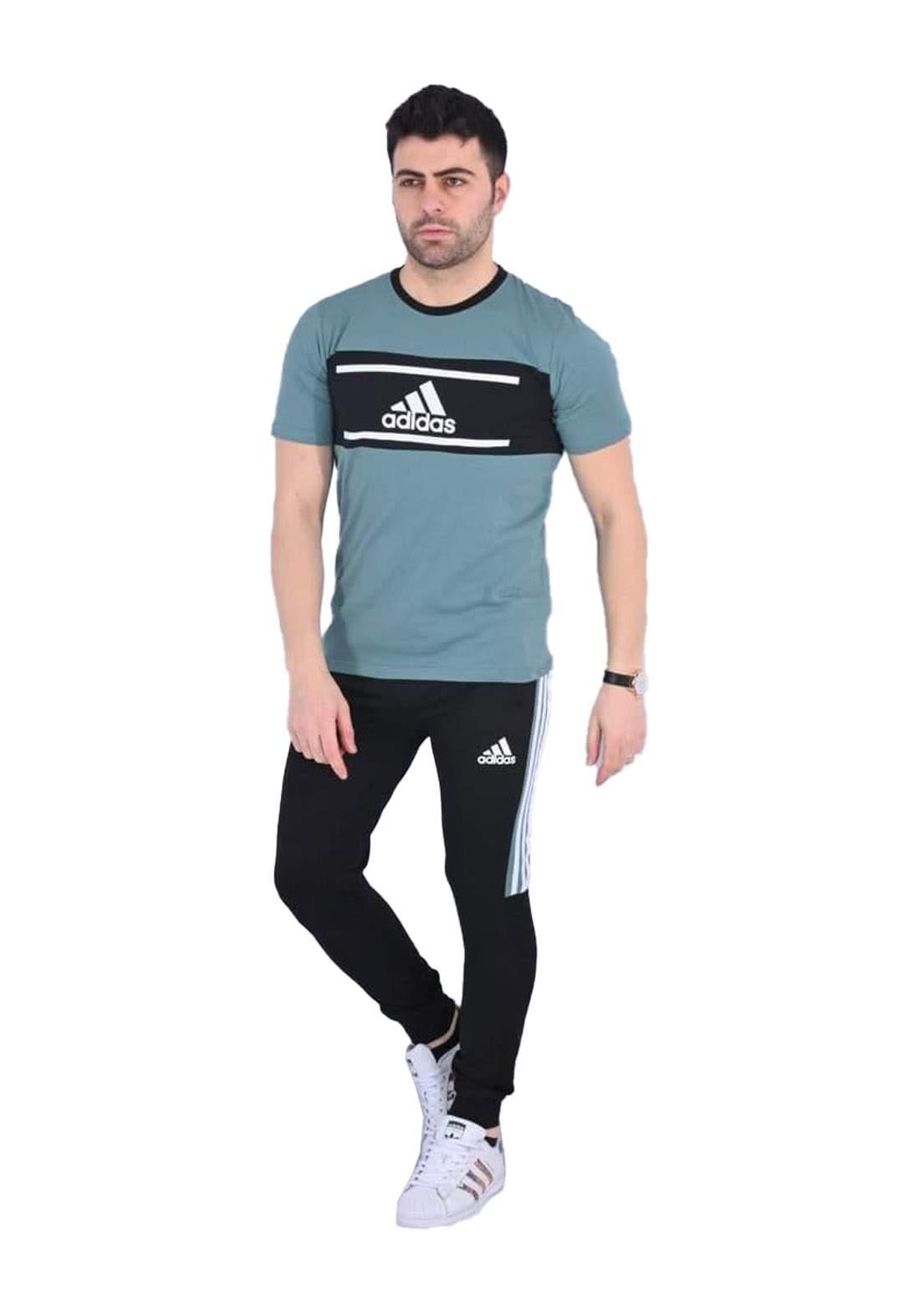 adidas Track تراكسوت رجالي اخضر اللون
