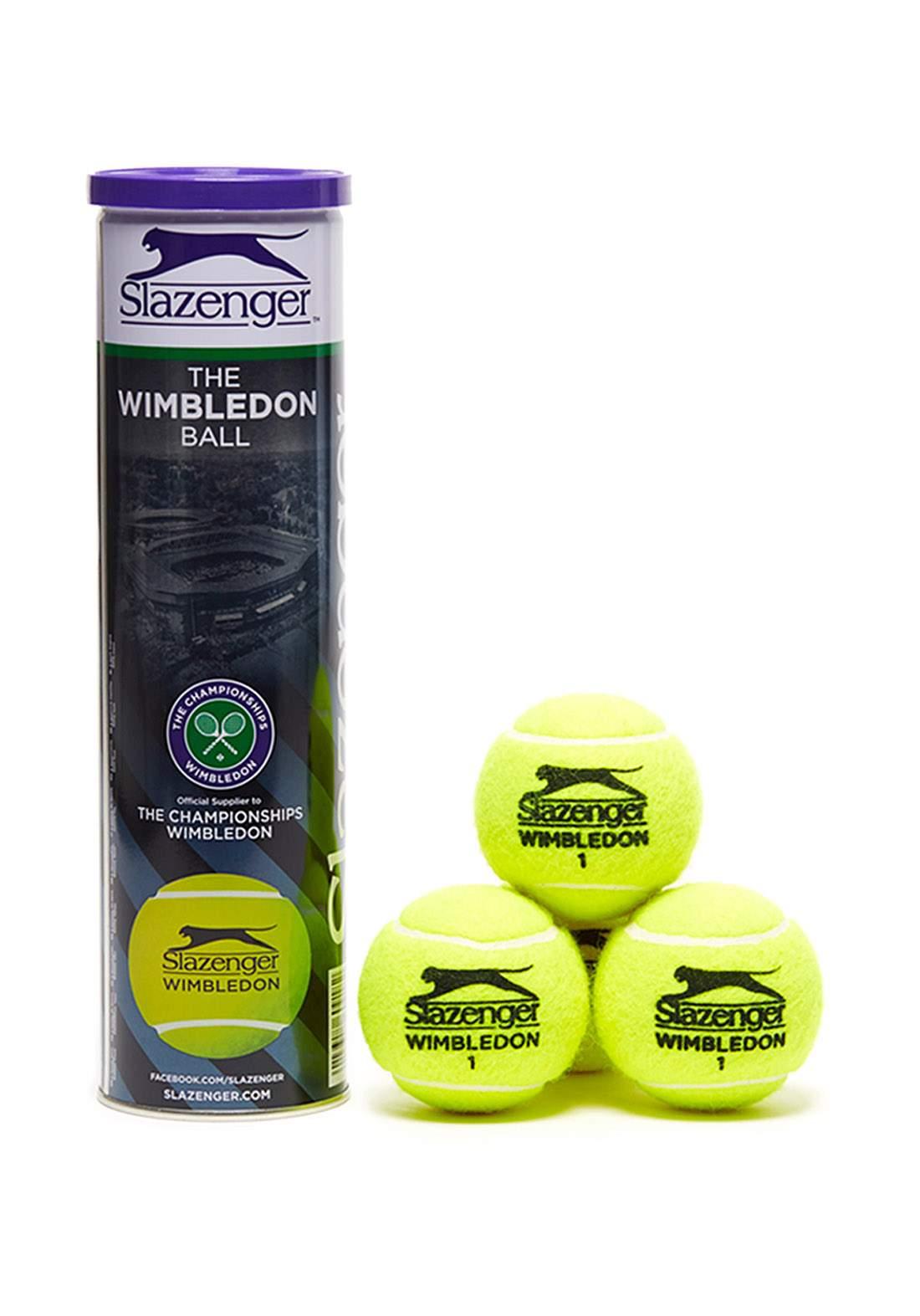 Slazenger Wimbledon Grasscourt Tennis Balls 4-ballكرات التنس