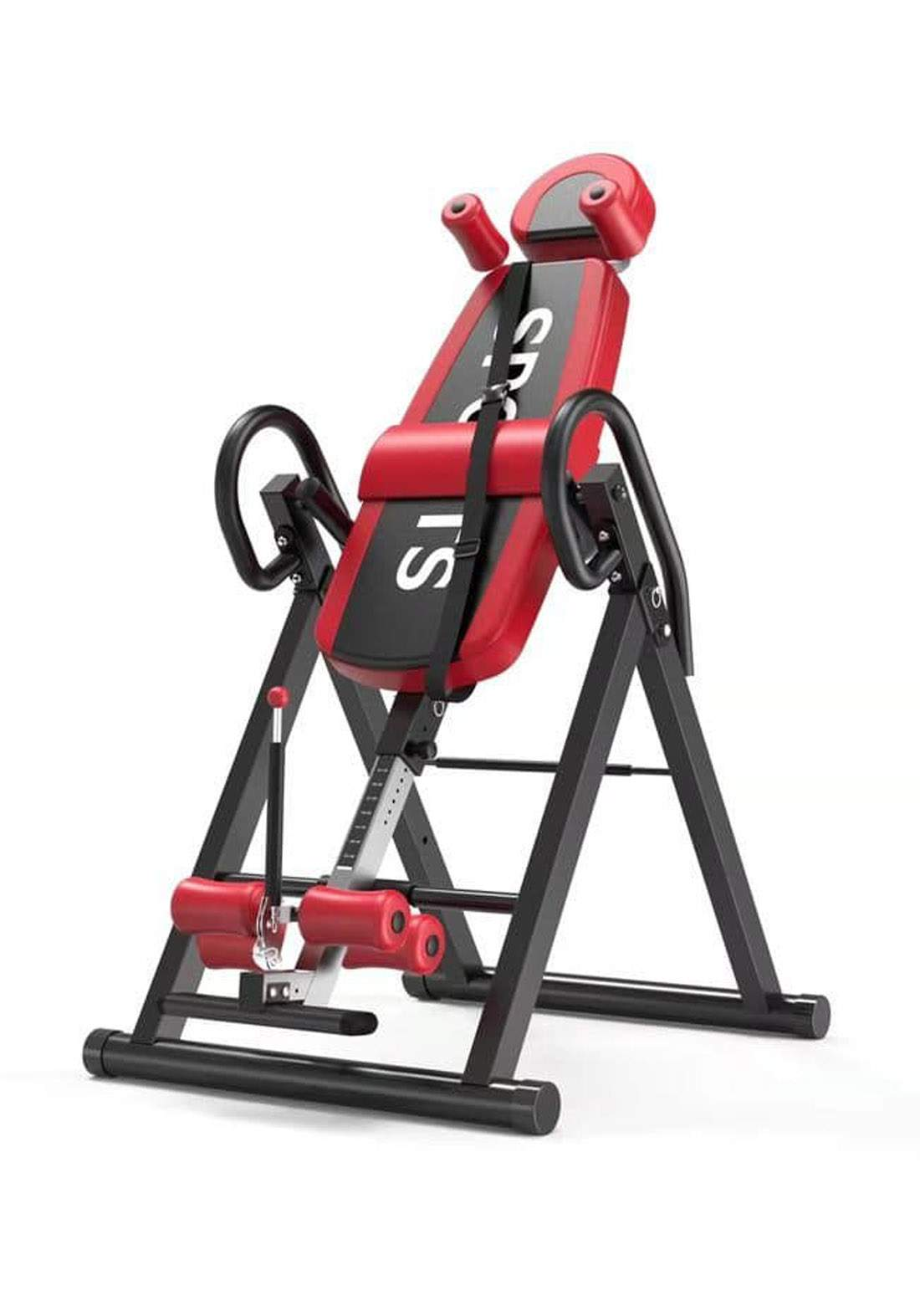 Back Stretch Machine and Inversion Table for Lower Back Pain Relief  جهاز سحب فقرات لون احمر