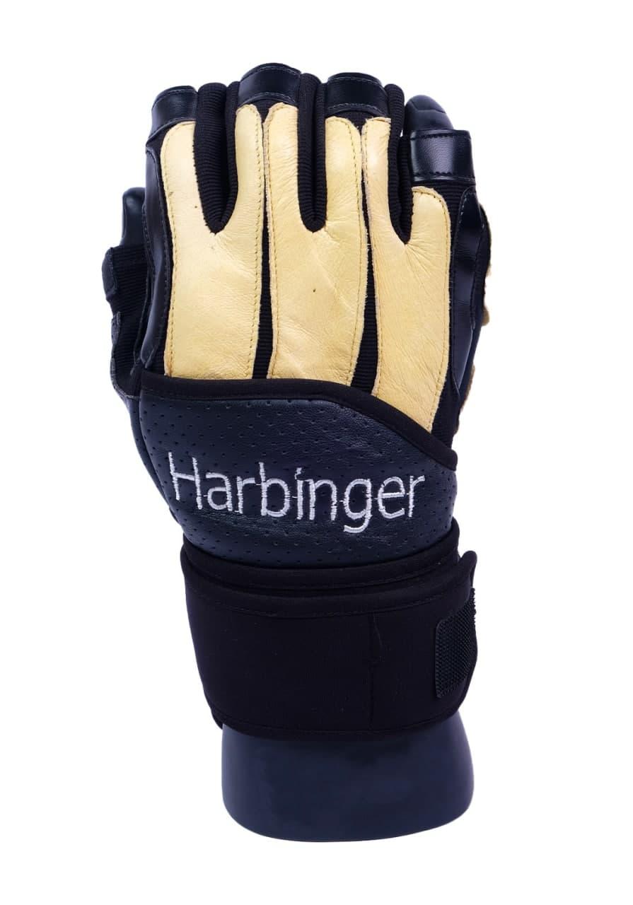 Harbinger Pro Wristwrap Weightlifting Gloves قفاز رياضي