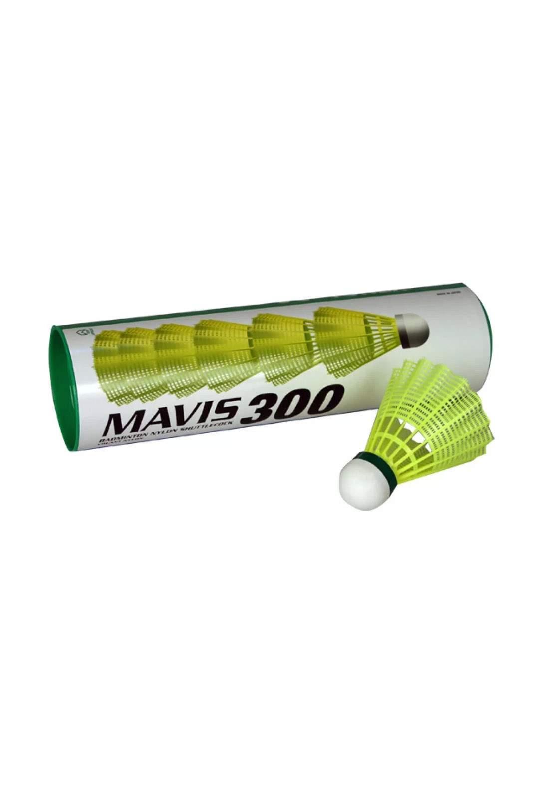 Yonex Mavis 300 (Pack 10) Green Cap Shuttlecock سيت  ريش مضرب