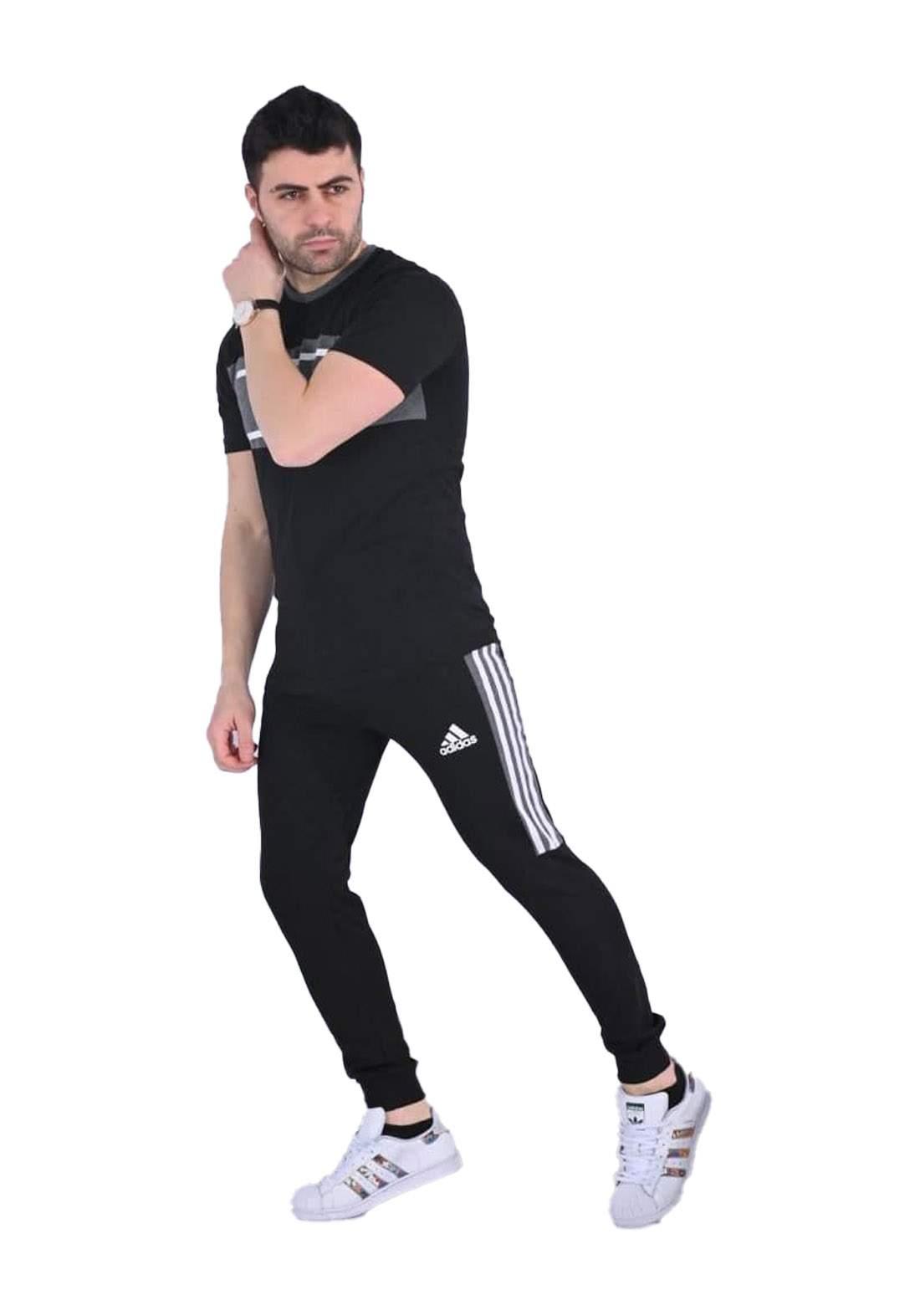 adidas Track تراكسوت رجالي اسود اللون