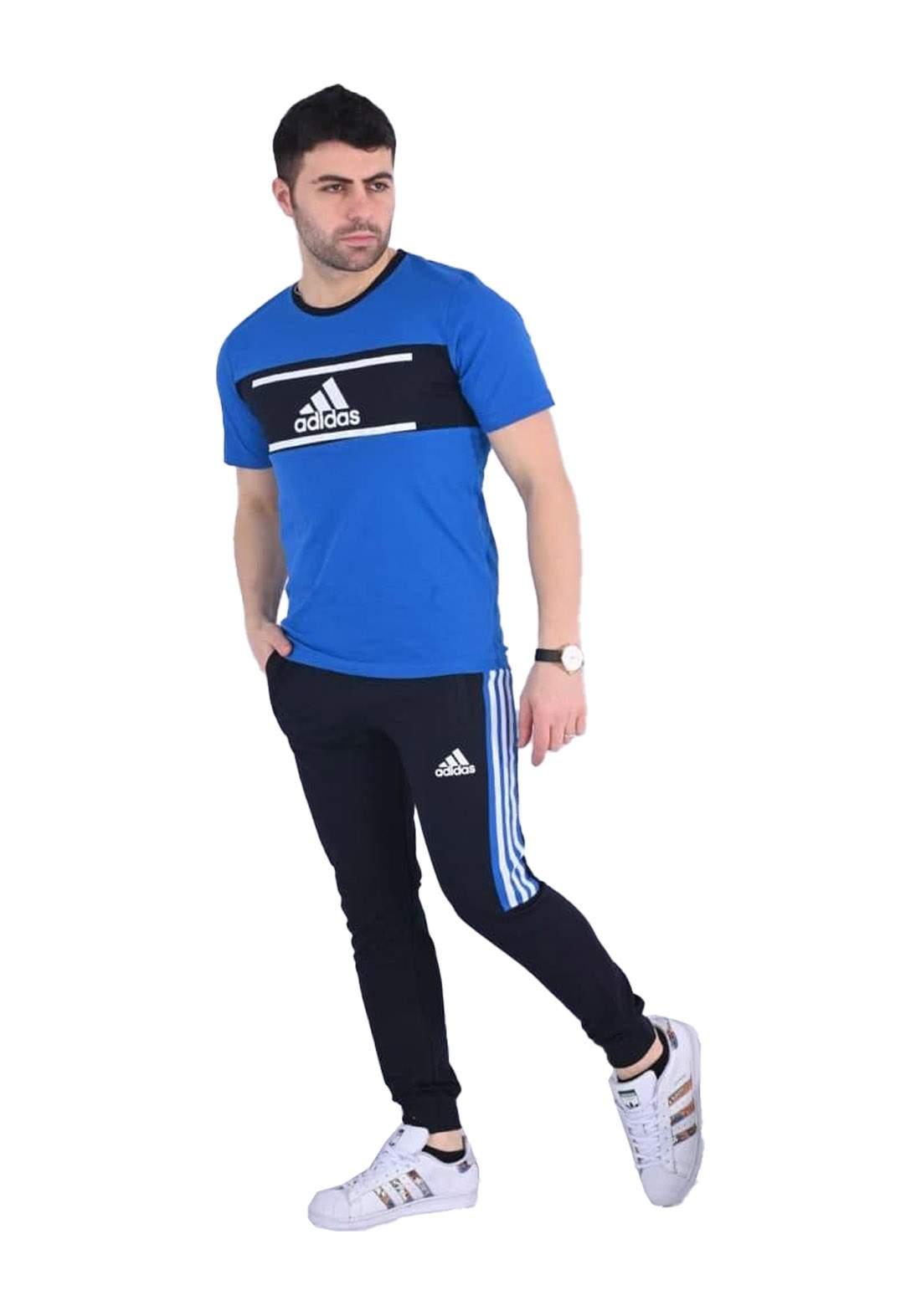 adidas Track تراكسوت رجالي ازرق اللون