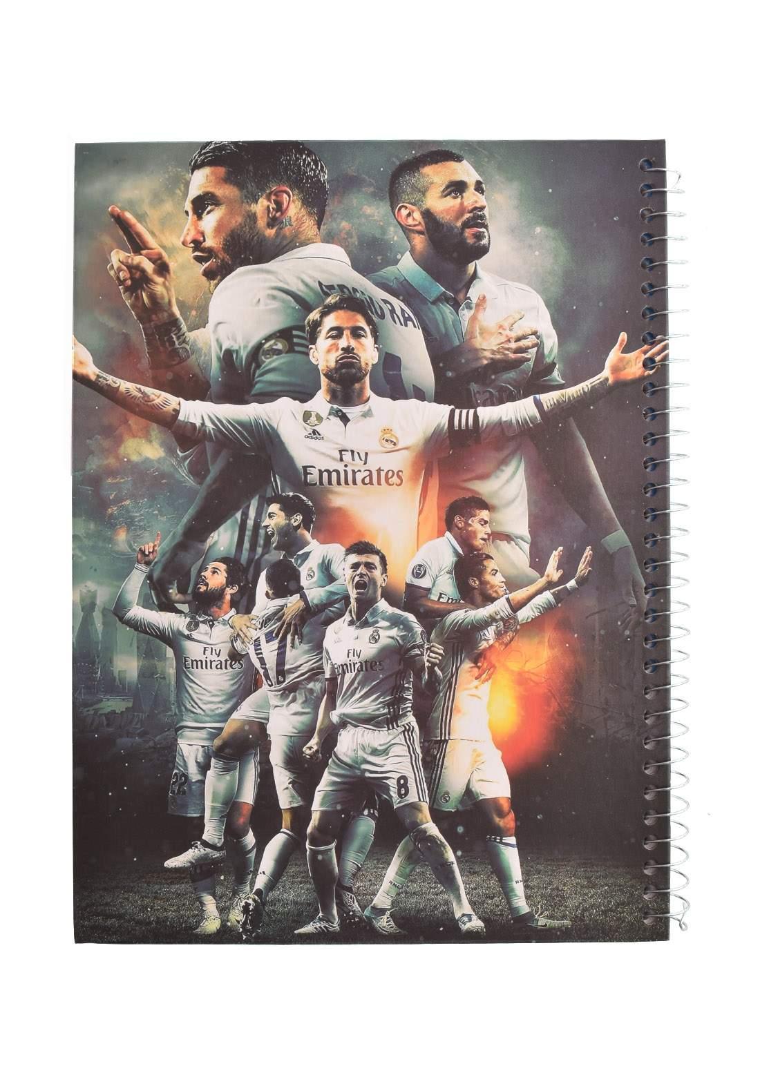 Arabic Spiral Copybook With A Drawing - Ronaldo - 100 Sheets دفتر سجل 100 ورقة