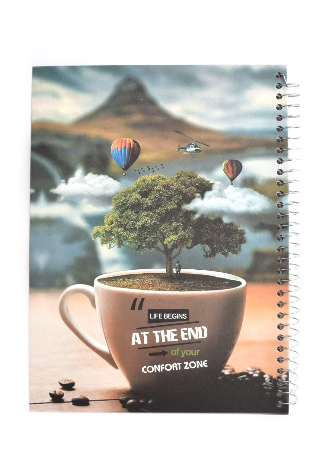 Arabic Spiral Copybook With A Drawing -Cap Tea - 100 Sheets دفتر سجل 100 ورقة