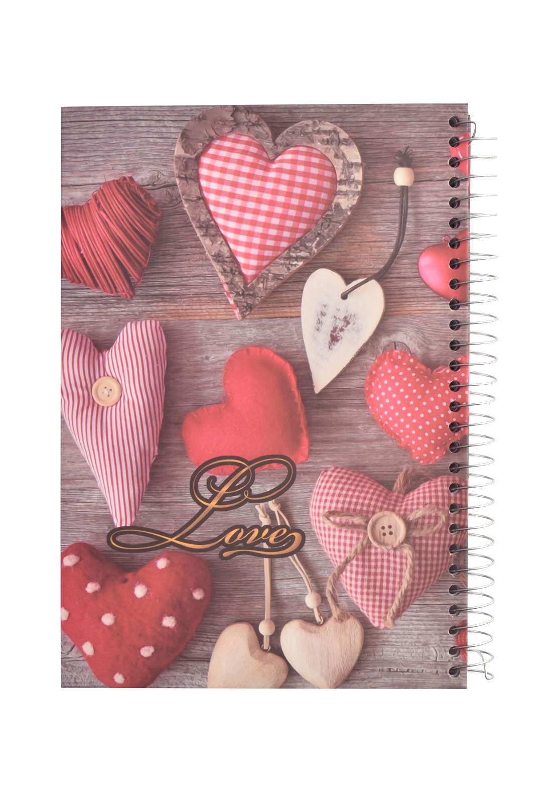 Arabic Spiral Copybook With A Drawing - Colored Heart - 200 Sheets دفتر  200 ورقة