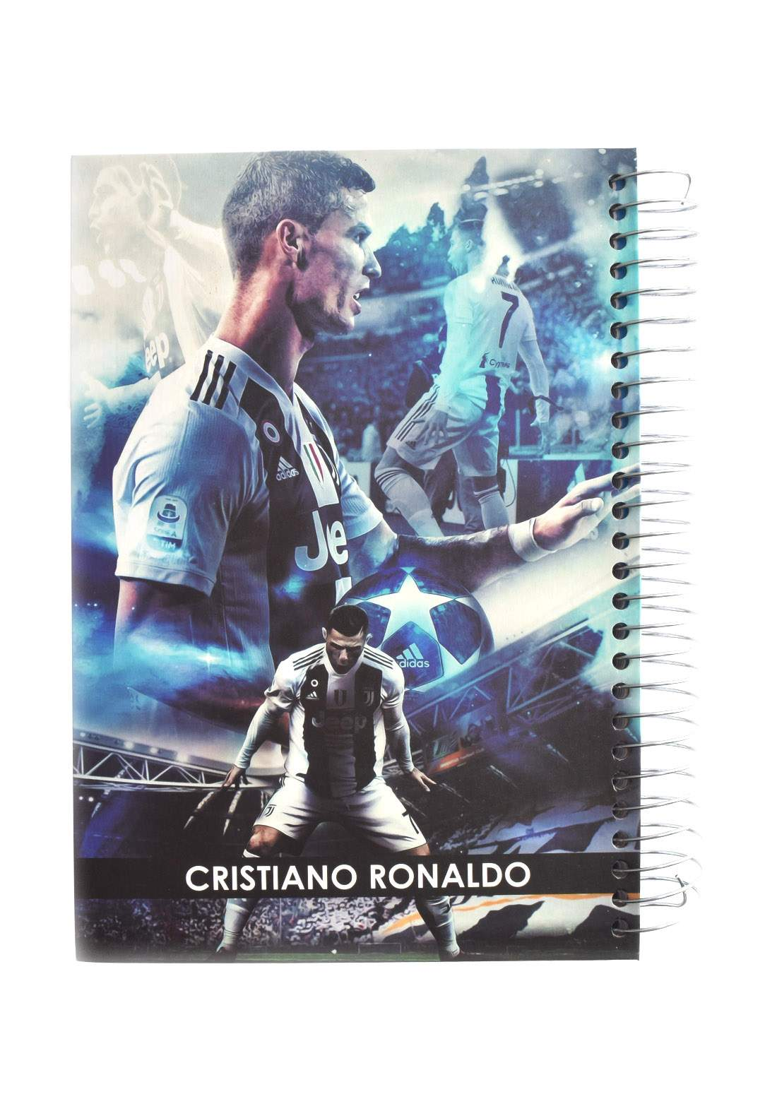 Arabic Spiral Copybook With A Drawing -  Chritiano Ronaldo - 200 Sheets دفتر  200 ورقة