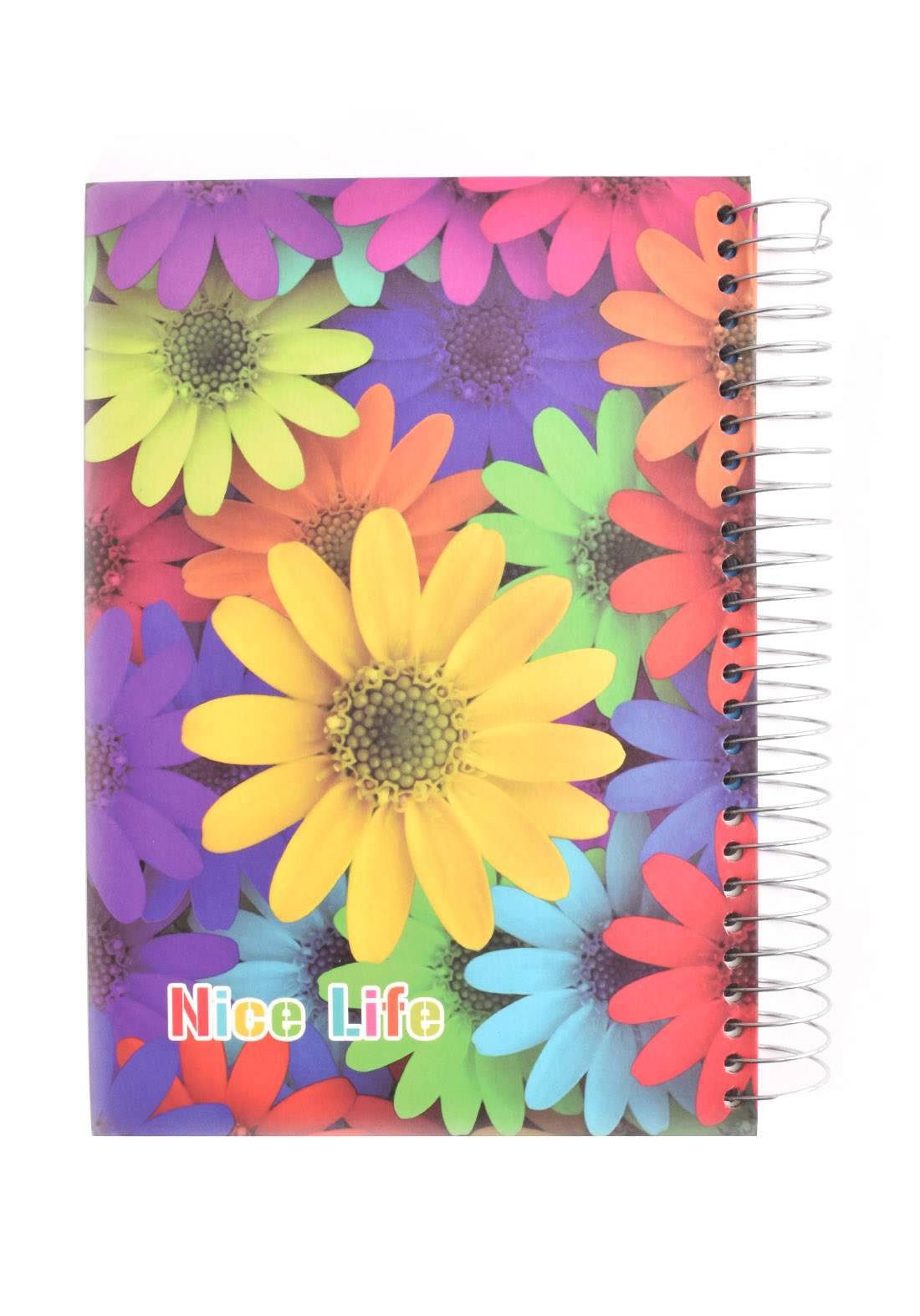 Arabic Spiral Copybook With A Drawing -  Colored Flower - 200 Sheets دفتر  200 ورقة