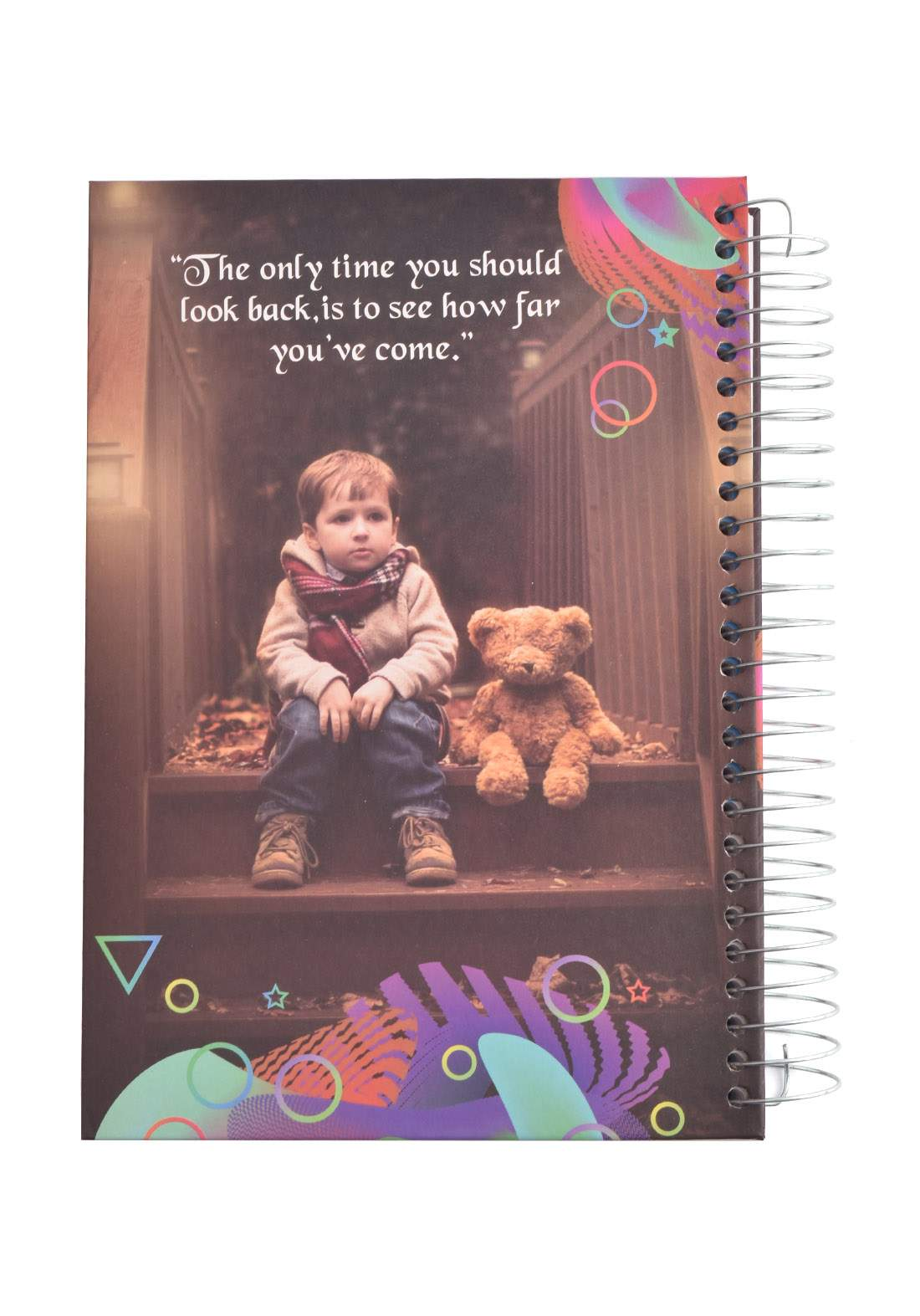 Arabic Spiral Copybook With A Drawing -  Boy & Bear - 200 Sheets دفتر  200 ورقة