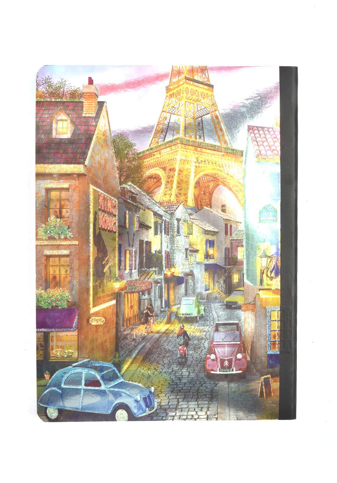 Arabic Cardboard Note Book With A Drawing -  Cars - 96 Sheets دفتر  96 ورقة