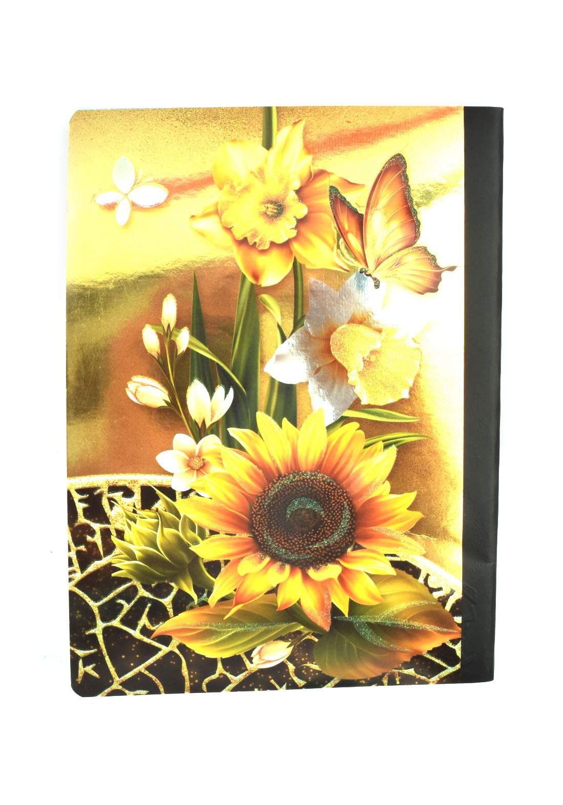 Arabic Cardboard Note Book With A Drawing -  Sun Flower- 96 Sheets دفتر  96 ورقة