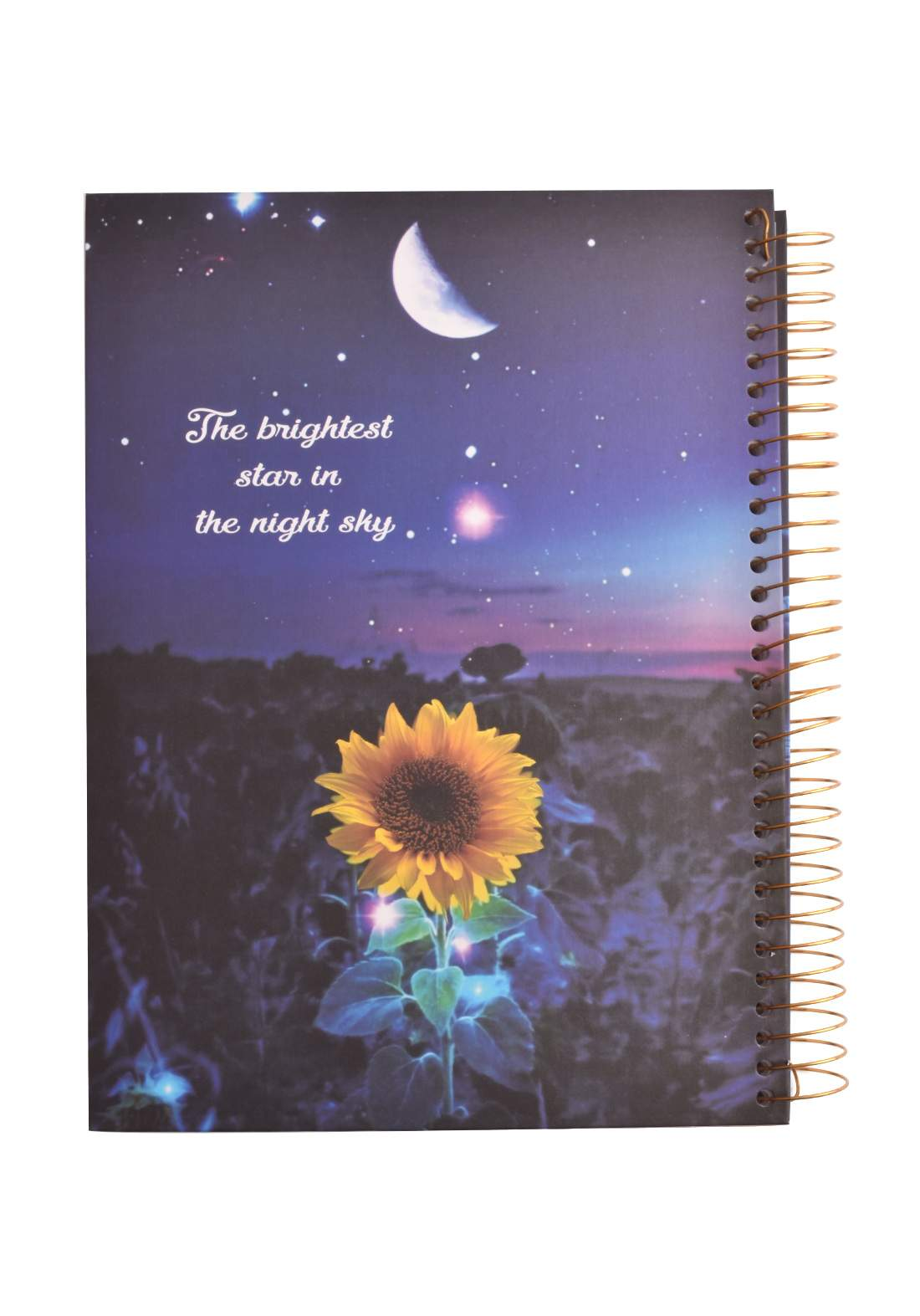 Arabic Spiral Copybook With A Drawing - SunFlower - 96 Sheets دفتر  96 ورقة
